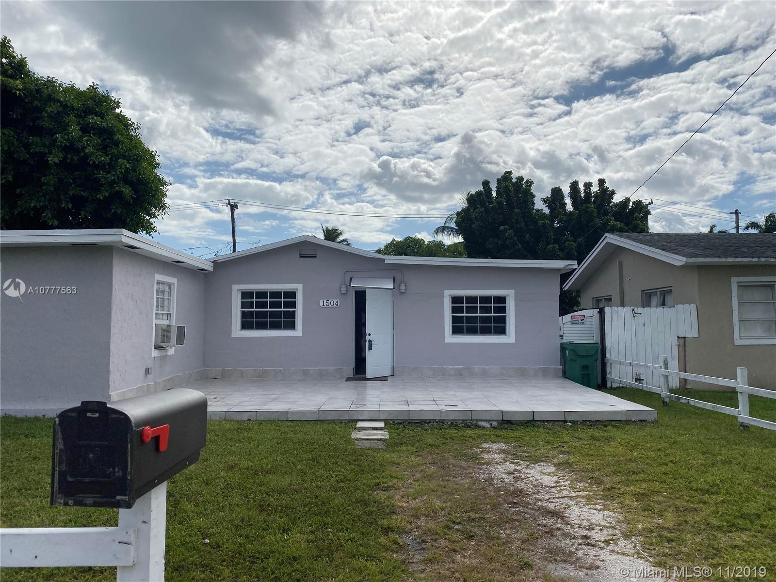 1504 NE 118th St  For Sale A10777563, FL