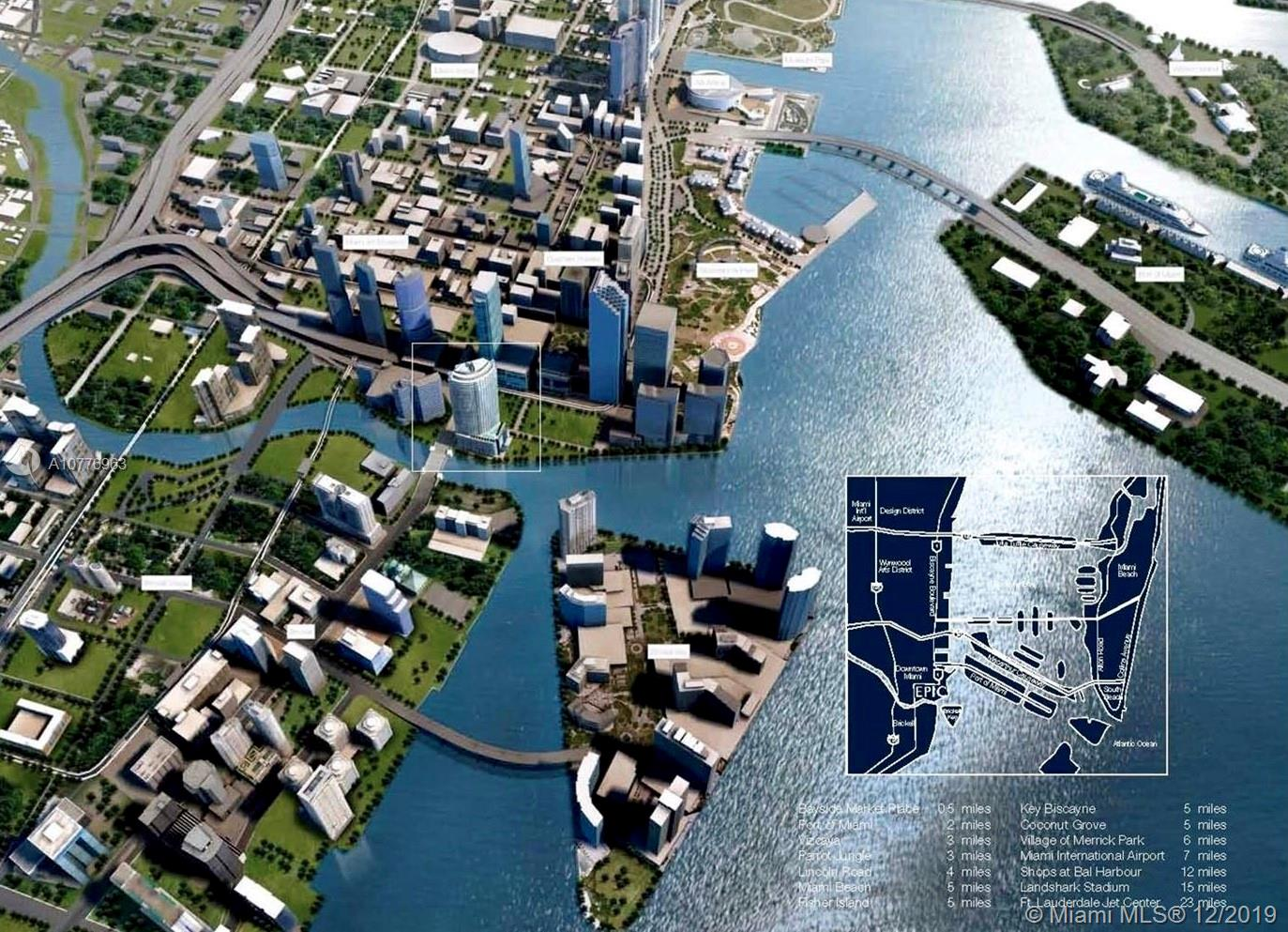 EPIC WATERFRONT RESIDENCES 4702, 4704 & 4712. A unique one of a kind opportunity to build your dream condo with these 3 combined units! 5,400+/- SF of interior space plus 938 SF of outside terraces, designer ready! Listing price reflects finished to buyers specifications with 6 bedrooms and 7 bathrooms. This unit has unobstructed bay and city views at the mouth of the Miami River captivating the Miami Skyline and water views of Miami Beach, Fisher Island and Biscayne Bay. Seller is willing to finance or to accept property in exchange in major cities in Europe, South America, USA or Mexico. 6 available parking spaces.