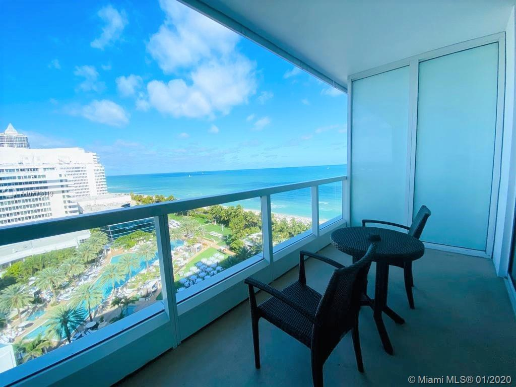 Spectacular views from the balcony of this unit at Sorrento Tower at Fontainbleau. Glass railing. Wide range view: Ocean, Beach, Intracoastal, Marina and the Resort Exclusive Pool area. Furnished turn-key condo recently renovated.Condo Hotel, full access to all of the amenities of Fontainebleau Hotel, restaurants, LIV nighclub, Lapis spa and Gym. It can be rented daily, option to enroll in the hotel program. Association Maintenance Fee includes electricity, valet parking, AC, water, wifi internet, cable and free breakfast in the owners lounge.