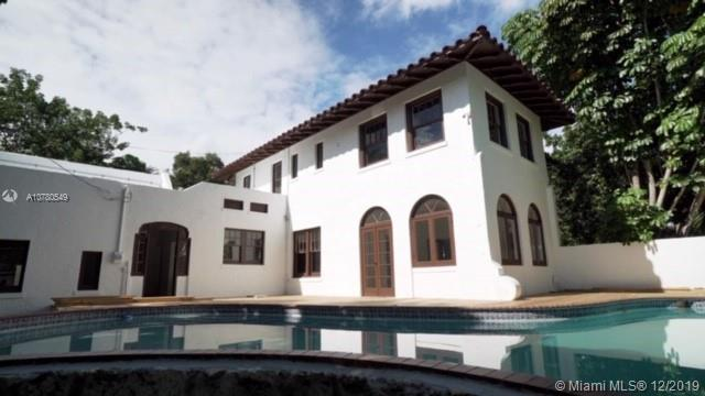 This historic Old Spanish masterpiece pool home built in 1929 sits in the sought after gated community of Morningside.  The property has 4 beds, 4.5 baths, 15,120 sq. ft. double lot, and is currently being renovated that can be completed with or without a new buyers finishes, and taste.  Features include bright open floor plan with formal dining, breakfast nook, butlers pantry, high ceilings, grand staircase, fireplace, mosaic tile & wood flooring, sunrooms, separate and private guest/nanny/live-in quarters, balcony, large pool deck with fenced in yard.  location, location, location close to downtown Miami, Miami International Airport, Miami Beach, Brickell City Center Shops, Miami World Center, Grocery Stores, Restaurants, Houses of Worship, and much more.  Great for entertaining.