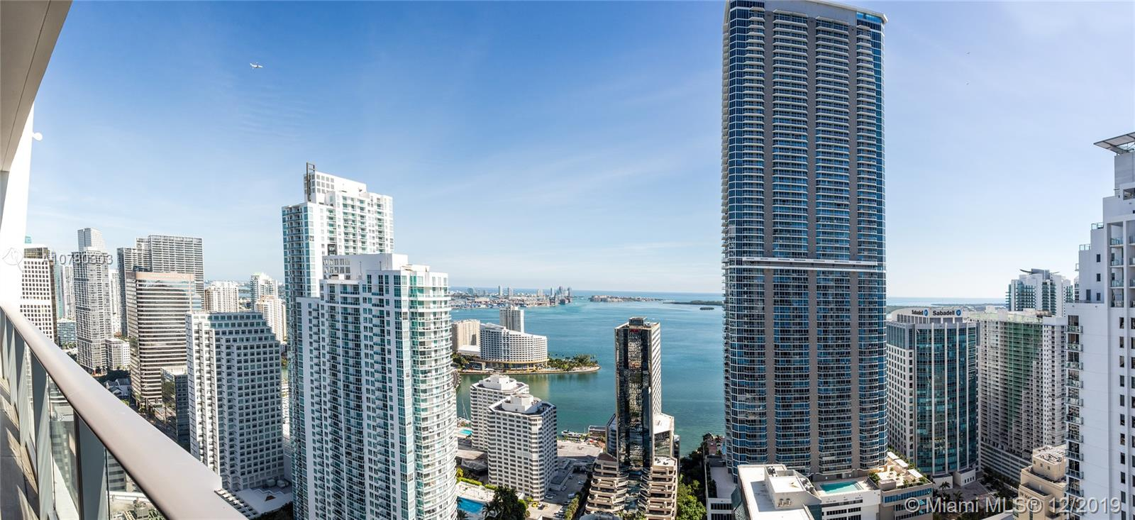 Best unit for sale at 1010 Brickell. Beautifully & professionally designed 2 Bed, 3 Bad + Den. Private elevator  move-in ready home in the sky. Direct views of the Biscayne Bay, Port of Miami, and South Beach. 1010 Brickell is one of the most complete and luxurious buildings in Miami. 3 entire floors full of amenities and entertainment, including a full SPA, double height ceiling GYM, Kids playground, squash, racquetball court, playroom with bowling alley, unbelievable roof top with full service restaurant / swimming pool, spa and an under the stars theater.