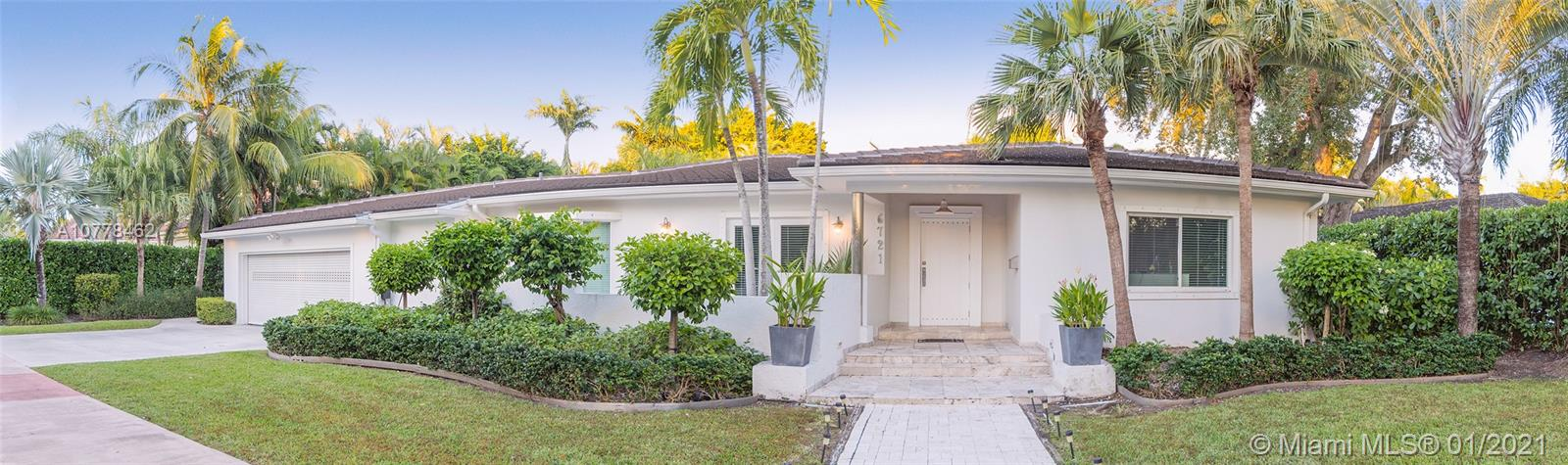 Come enjoy this updated 5 Bedroom, 5 Bathroom home in South Gables that sits on an almost 14,000 sq foot lot. This home has a great layout, with living/dining areas looking out over the pool. Kitchen has stainless steel appliances, granite counter tops & custom wood cabinets. Kitchen is open to the family room. All bedrooms have built out closets. The roof of the home was replaced in 2017 and two new AC units were installed this year. Shows great, bring your client for a private viewing.