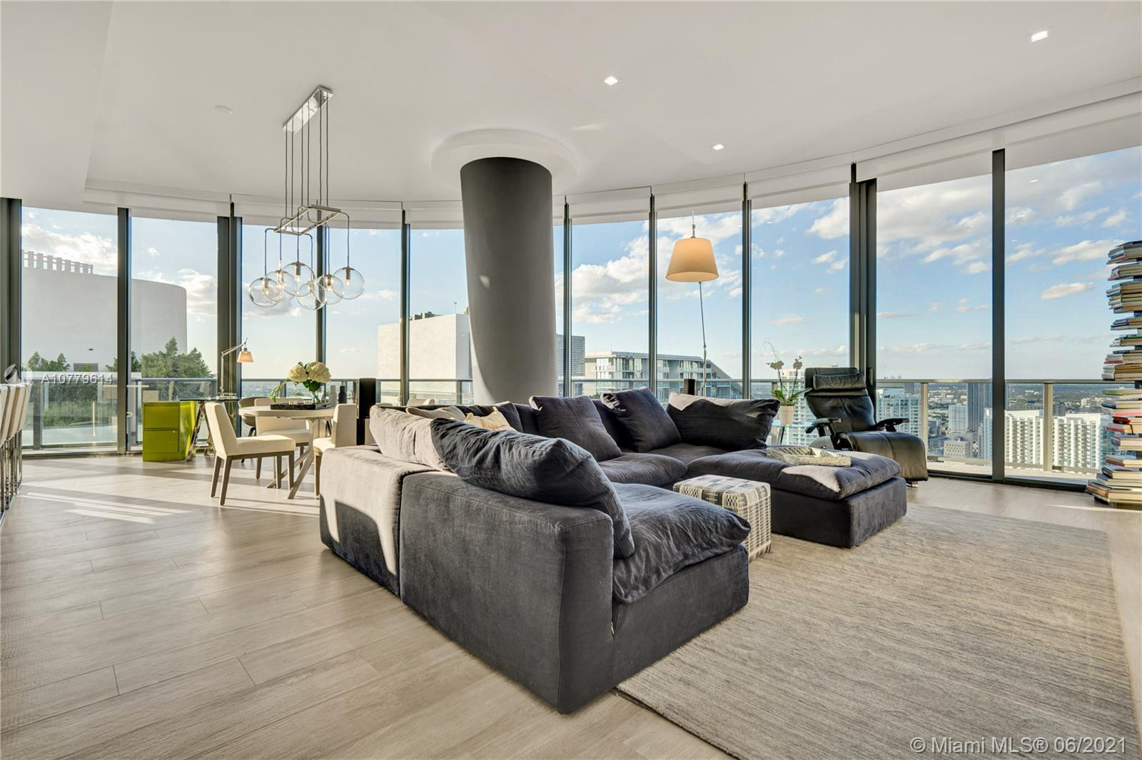 Sophisticated Penthouse Residence in Brickell Heights East! Captivating views from the wrap-around terrace over Miami Skyline and Biscayne Bay from sunrise to sunset. This 3/3.5 corner residence features luxurious updates with custom cabinetry, suspended ceiling light fixtures, upgraded kitchen cabinetry & appliances. Floor-to-ceiling windows and balcony access from all bedroom create a spacious contemporary ambiance throughout. Brickell Heights amenities include the exquisite Equinox Gym & Spa, Soul Cycle studio, resident-only Rooftop Sky Pool Deck, private Screening and Entertainment Rooms, state-of-the-art Business Center, Kids Club and 24/7 Concierge. A very private residence above the vibrant Brickell area.