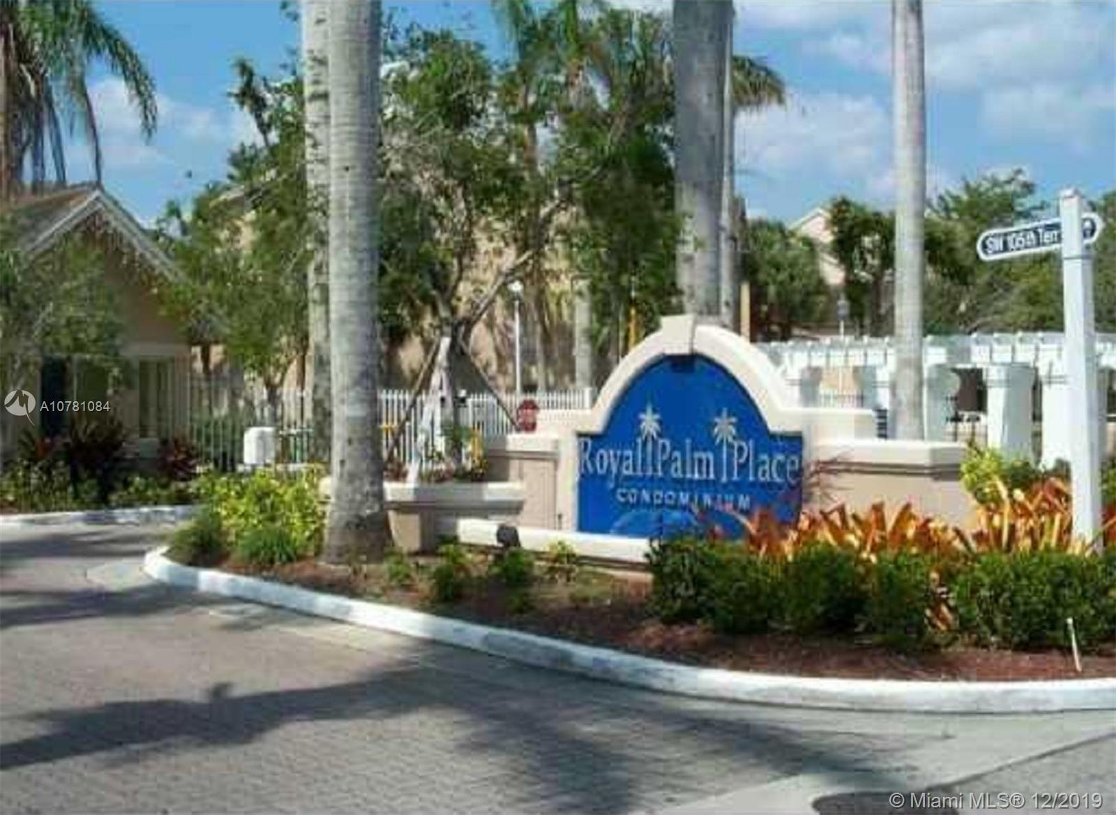 10521 SW 158th Ct #103 For Sale A10781084, FL