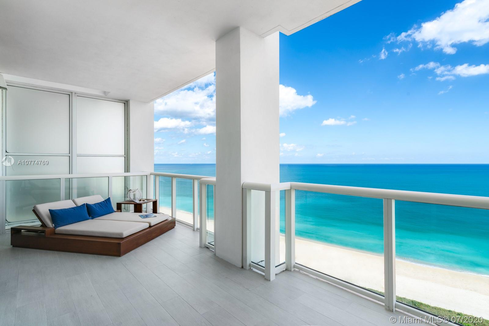 Fabulous ocean views at Continuum, the best located condo on 1,000 ft. of white sandy beach & amazing amenities. Over 3,600 total sq.ft., this private & exquisite Southeast-facing corner is most desirable with new imported finishes & private elevator lobby. Remodeled in 2019, a design masterpiece with French Oak floors, custom fittings & furnishings throughout, this home in the sky offers 4 terraces, 4 bedrooms & 4.5 bathrooms. Gaze at the deep blue ocean or 12 acres of Continuum's manicured grounds through the floor-to-ceiling glass enclosed living room. Two parking spaces, Spa, gym w/classes, private beach attendants, 2 free form lagoon pools, lap pool, 3 hard-tru tennis courts, dog park, kids room, concierge, valet, business center all sitting in the best location in town, South Pointe.