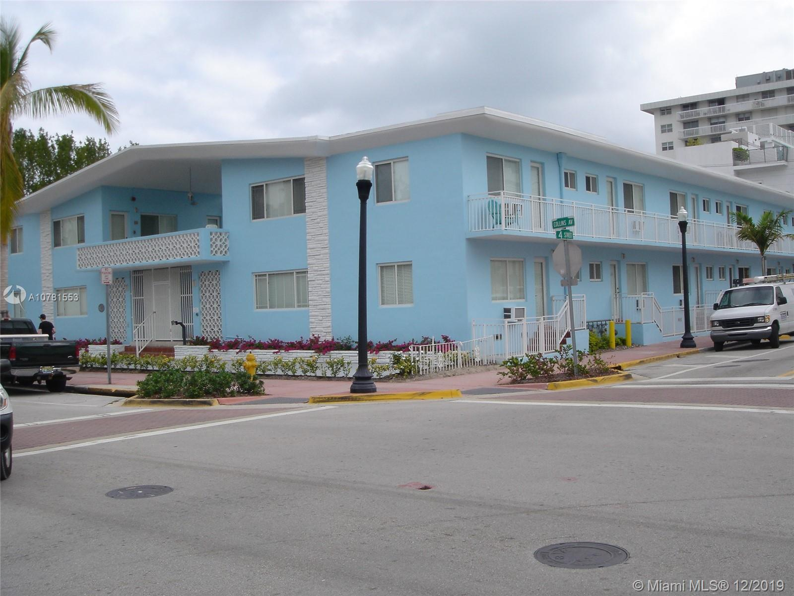 401  Collins Ave #19 For Sale A10781553, FL