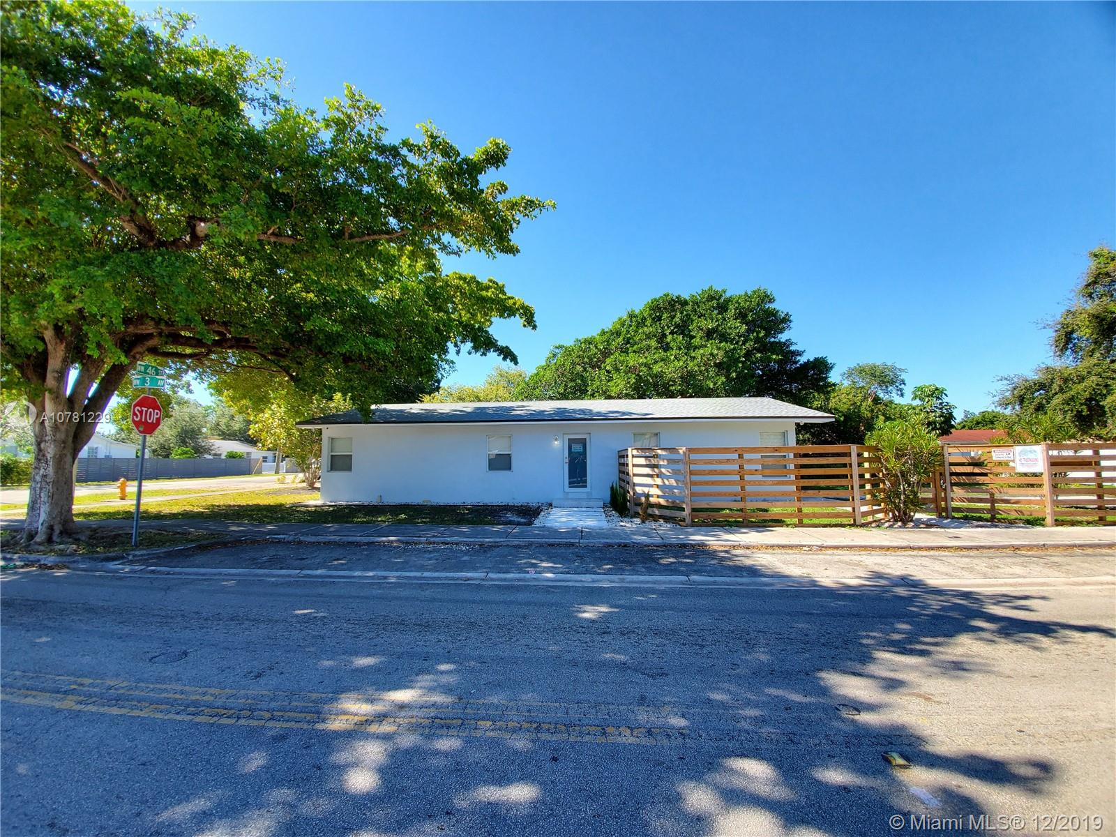 4600 NW 3rd Ave  For Sale A10781229, FL