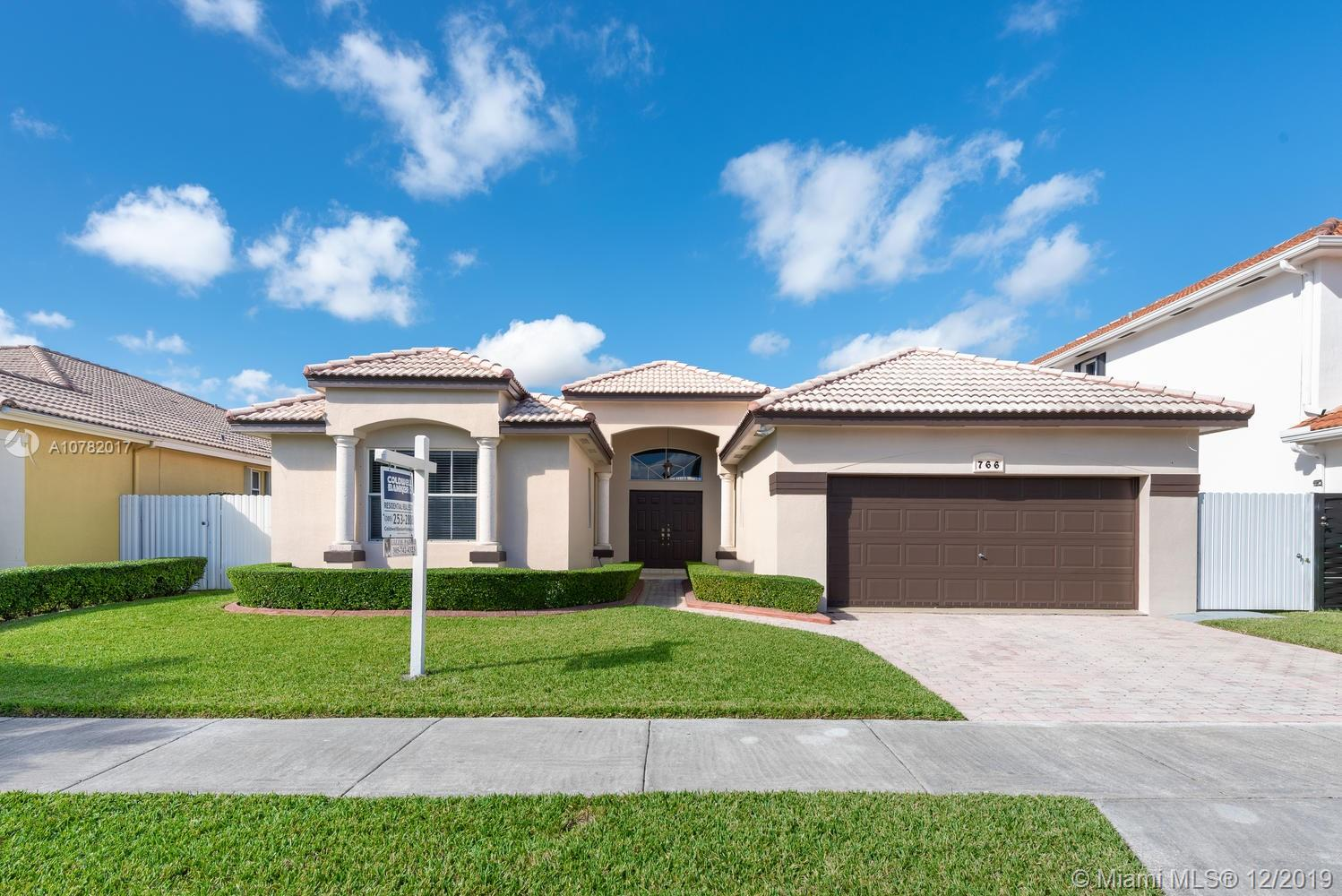 766 NW 129th Pl  For Sale A10782017, FL