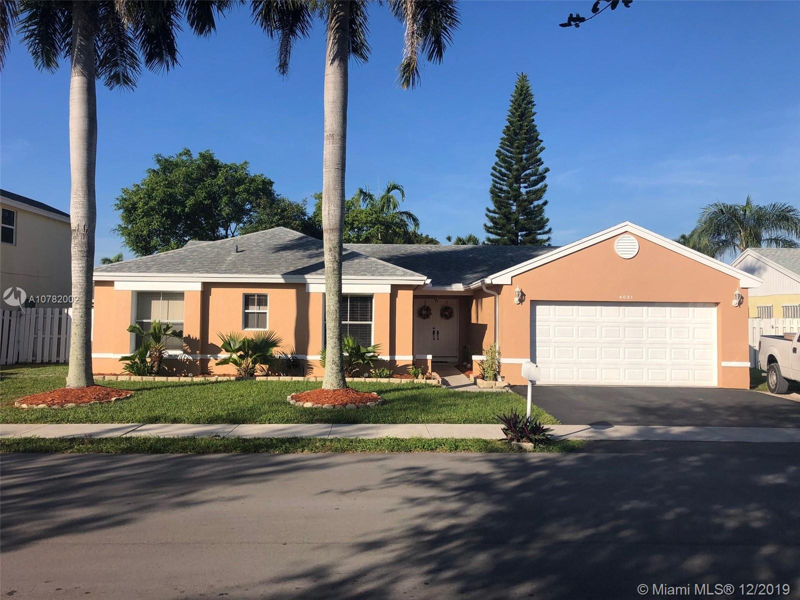 4031 SW 72nd Way  For Sale A10782002, FL