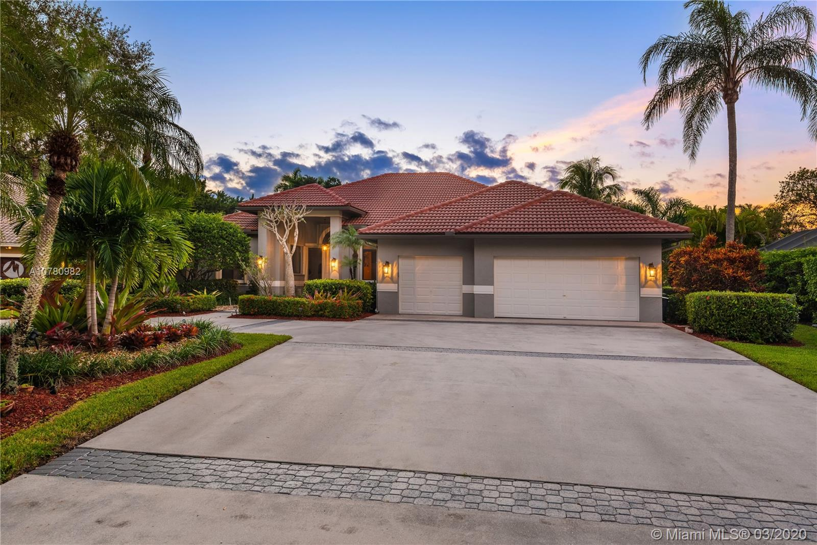 Breathtaking and awe-inspiring, this exquisite estate home in Tequesta never ceases to fascinate! Located on an oversized 19,400+ SF lot in a cul-de-sac on Tequesta's estate homes, this fabulous pool home features an oversized driveway and 3 car garage and has been meticulously and diligently renovated and includes high volume ceilings and open floor plan. Improvements include 2012 roof replacement, 2015 A/C units, new flooring, custom chef's kitchen with custom cabinetry new appliances, bathrooms, electrical, fencing, hurricane protection featuring a combination of impact windows and shutters throughout and much more. Conveniently situated in one of Weston's most premier gated communities, easy access to supermarkets, shopping, dining, schools, highways. Call us today to schedule a visit!