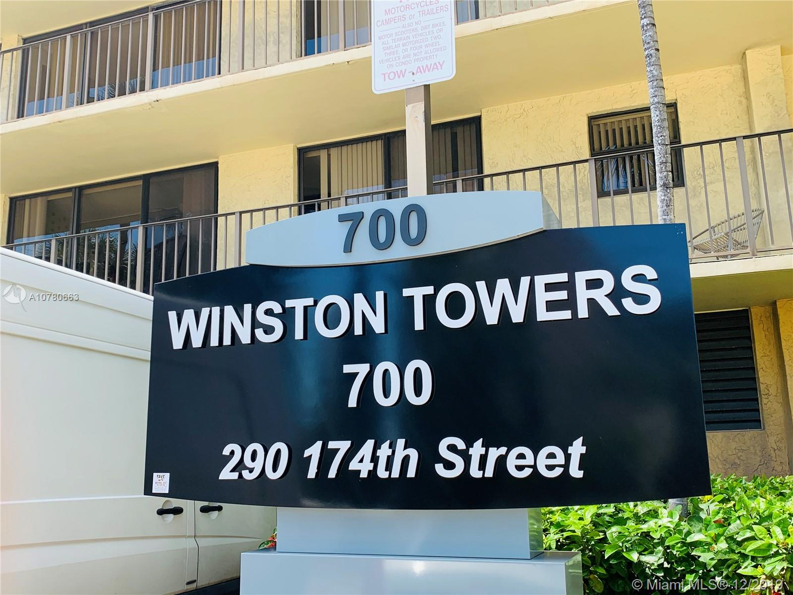 290  174th St #806 For Sale A10780663, FL