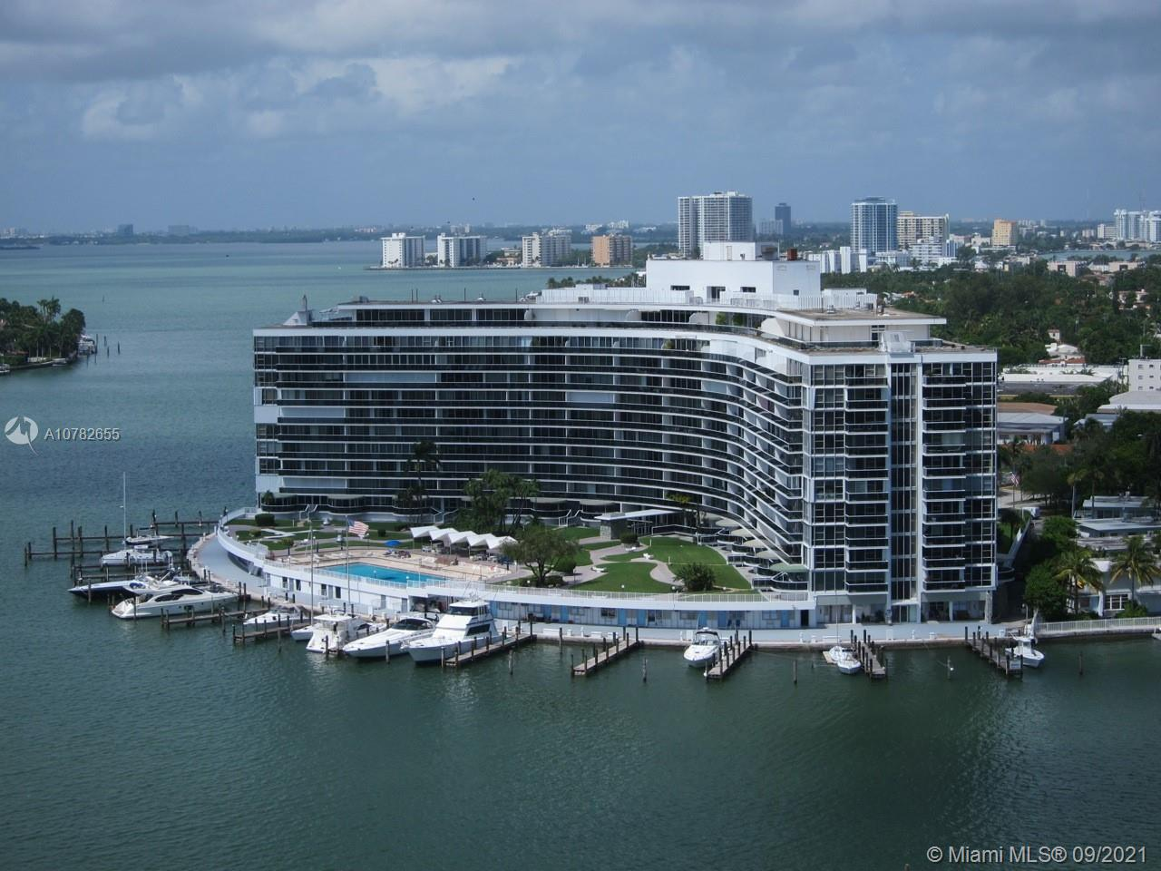 Luxury at its finest in this 2 beds 2 baths. Unobstructed intracoastal and canal views from all rooms of the home. Solid exterior and interiors walls, glass windows from floor to ceiling and balcony. Olympic size heated pool, gym, 24 hr security, one valet parking included, additional valet at $75 a month each. Walking distance to beach, restaurants, supermarkets, and shops. This oversized bay front residence is a hidden jewel of Miami Beach in the historic MIMO architecture King Cole. n King Cole Building HOA Maintenance include: Electrical, hot and cold water, high speed internet, up to three boxes for HD TV., changes of AC filters, pest control and others.  EZ to show. It will not last !!