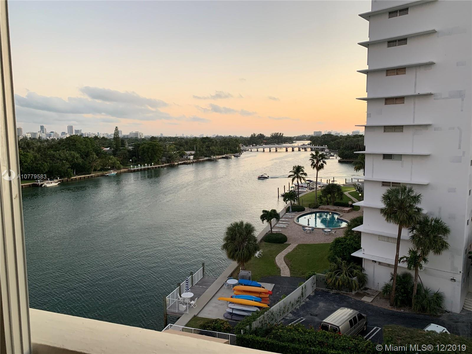Waterfront condo in Bay Harbor. Overlooking the iconic Indian Creek Waterway & bridge. Amenities include heated pool, gym, and private parking. Walking distance to beach, Bal Harbor shops & restaurants.