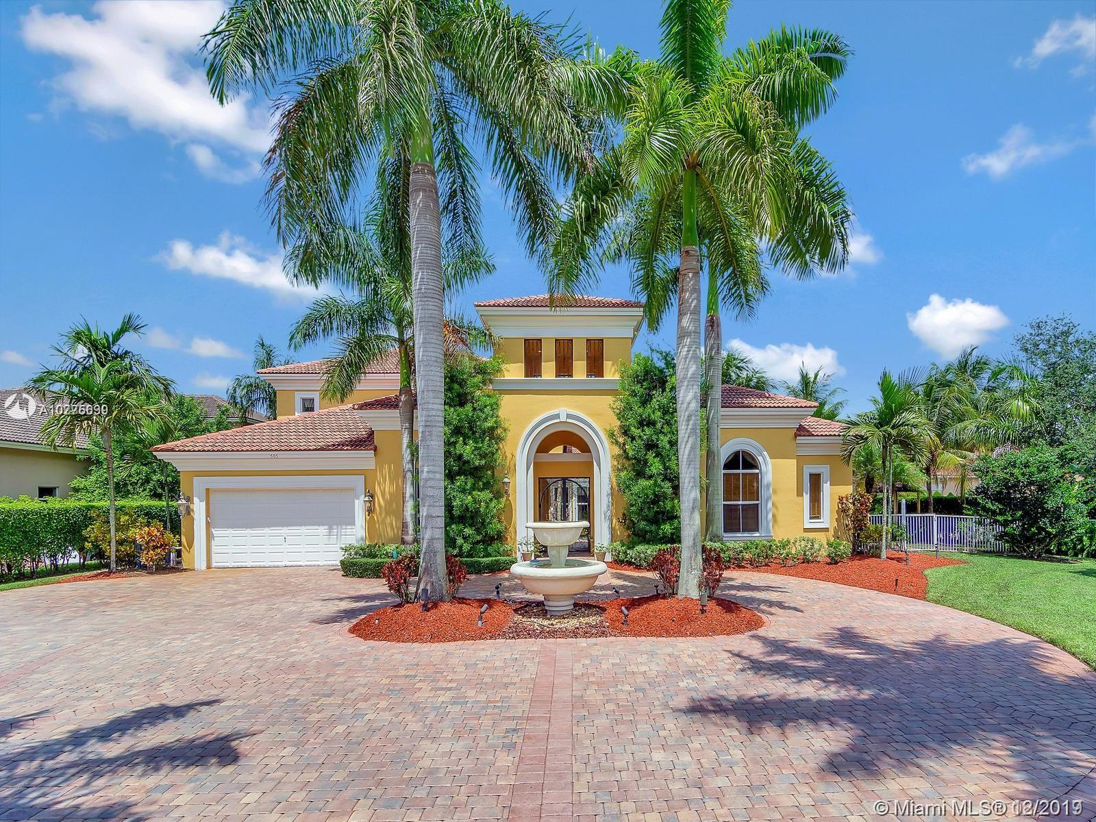 LOCATED IN THE EXCLUSIVE DOUBLE GATED SECTION OF THE ENCLAVE OF GRAND PALMS, THIS OPULENT ENTERTAINERS DREAM HOME FEATURES SOARING CEILINGS, DRAMATIC IRON STAIRCASE, EXQUISITE MARBLE FLOORS & IMPACT WINDOWS & DOORS. CUSTOM DESIGNED KITCHEN HAS LARGE ISLAND, HIGH END STAINLESS APPLIANCES & BREAKFAST NOOK OVERLOOKING THE TRANQUIL COURTYARD & POOL. FIRST FLOOR MASTER SUITE WITH DUAL WALK IN CLOSETS & SPA LIKE BATHROOM, ELEGANT EXECUTIVE OFFICE & CUSTOM DESIGNED HOME THEATRE. UPSTAIRS HAS 3 LARGE BEDROOMS WITH PRIVATE ENSUITE BATHROOMS & MULTI-PURPOSE LOFT AREA. DINE AL FRESCO IN YOUR OUTDOOR KITCHEN & BAR SURROUNDED BY ITALIAN FOUNTAINS, WALKING PATHS, SPARKLING POOL & SPA, PLUS GUEST QUARTERS. CLOSE TO ALL MAJOR HWAYS, AIRPORTS, SHOPPING & DINING, THIS MASTERPIECE WILL TAKE YOUR BREATH AWAY.