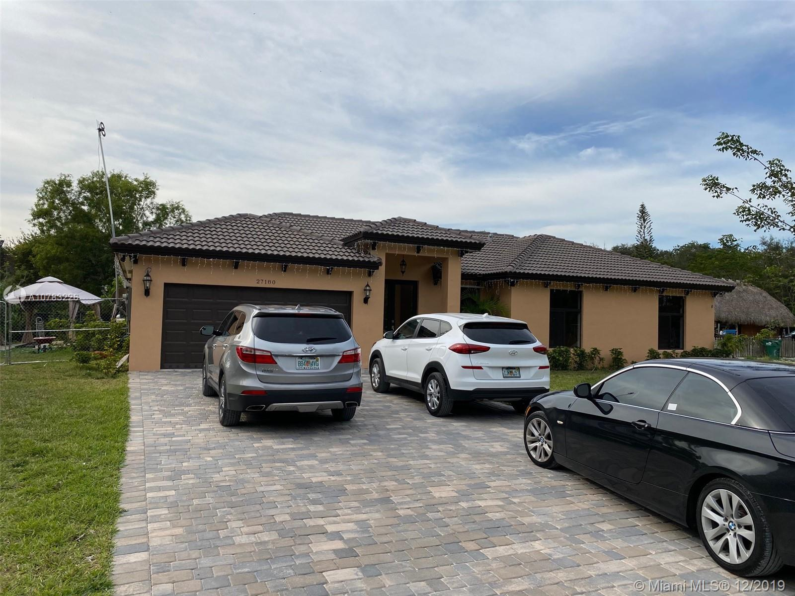 27180 SW 152nd Ave  For Sale A10783226, FL