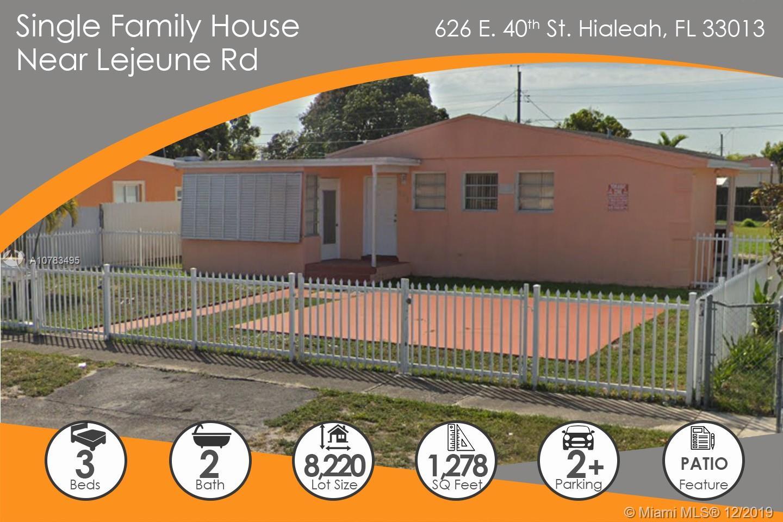 626 E 40th St  For Sale A10783495, FL