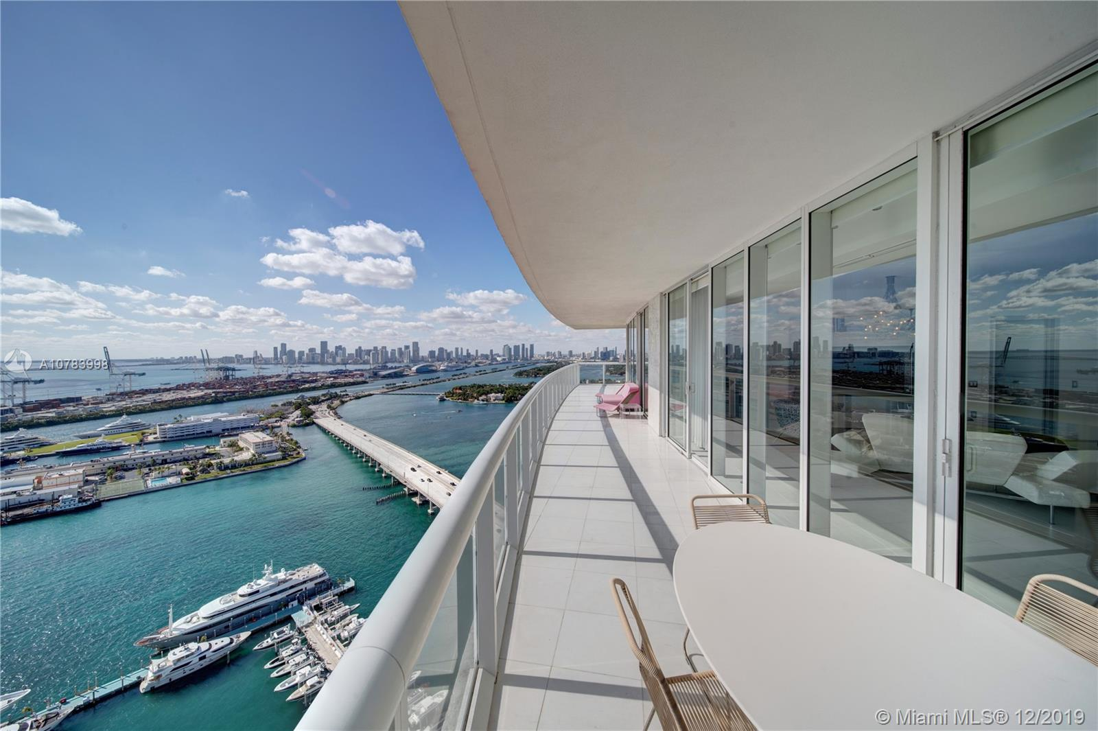 """Truly unique turn key residence at the Icon South Beach: enjoy the most spectacular views of Biscayne Bay and the sunset over the Miami Downtown skyline from this high floor corner 3 bed, 3.5 bathroom with a 797 sq ft wrap around balcony,   the """"01"""" line being the best corner residence  in the building. Luxury amenities include a state of the art spa and gym, a bi-level pool deck with relaxation gardens, outdoor lounges, exquisite italian restaurant, 2 swimming pools, concierge, 24 hr security and much more. Enjoy the the best lifestyle the SoFi neighborhood has to offer with a mega yacht marina, plenty of top restaurants to choose from, a beautiful promenade and South Pointe Park.  Easy to show. Call listing agent"""