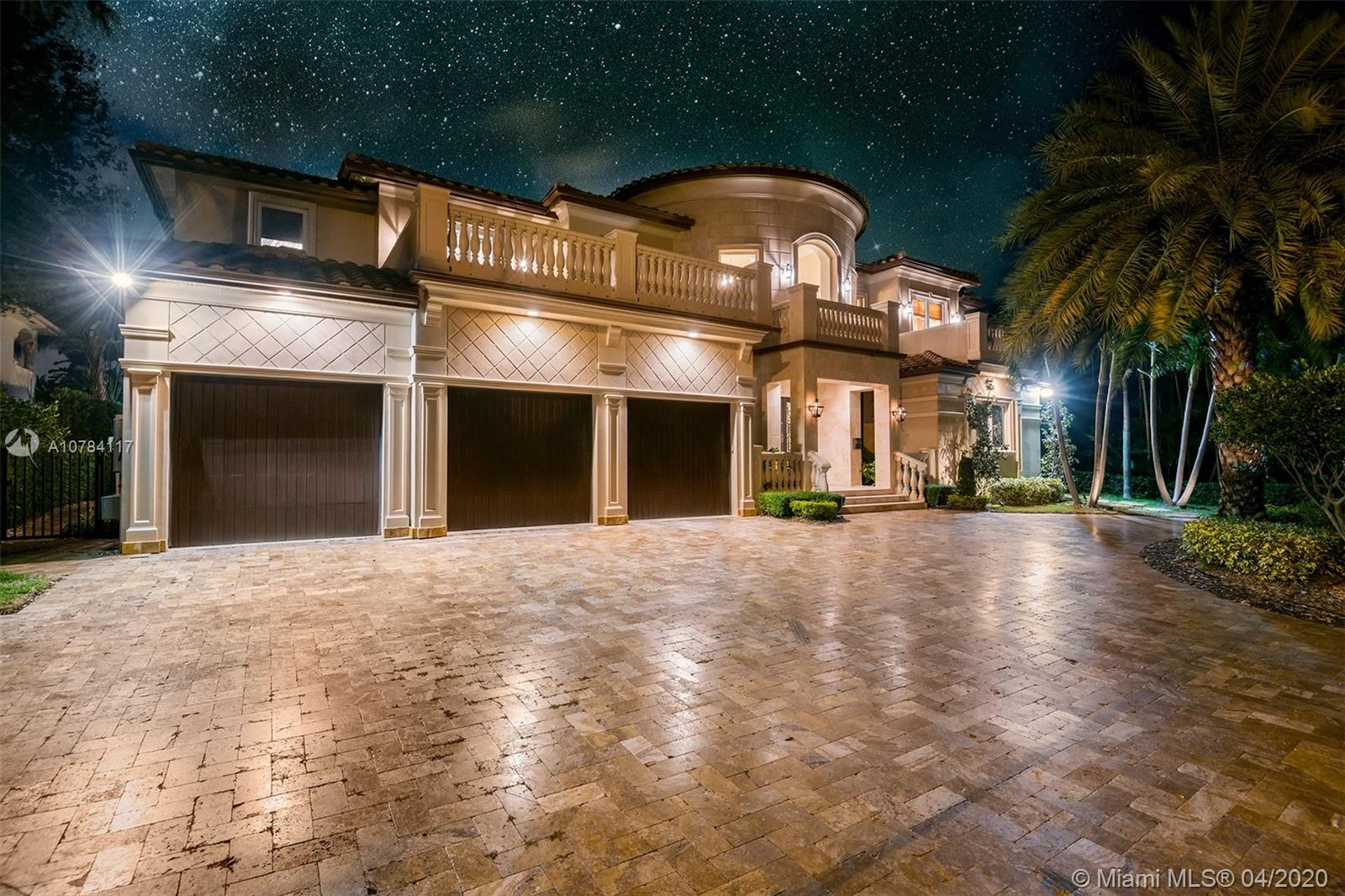 Located in the exclusive gated Harbor Beach community. This newly built home is located on a wide protected waterway. Interior features include a custom chefs kitchen with all the finest finishes elite appliances. The home's open floor in perfect for indoor outdoor lifestyle. 95' of water front, jest ski davit and boat lift, will accommodate a 75' yacht, just several homes away from the Intracoastal. The home has a master suite on the ground level and a master suite on the second level with a huge walk through closet. Media room, formal dining area, elevator, gym, office, 45' heated pool and spa with a swim up wet bar and outside BBQ. Control 4, interior and exterior cameras,  Private Harbor Beach Surf Club and Marina Membership available.