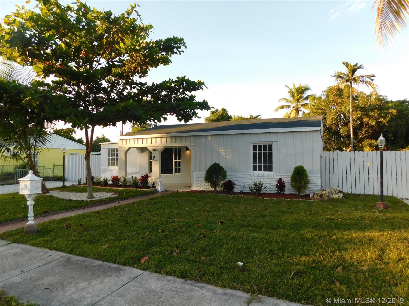 1021 NE 140th St  For Sale A10782837, FL