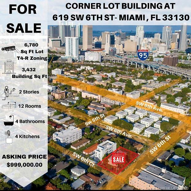 619 SW 6th St  For Sale A10785846, FL