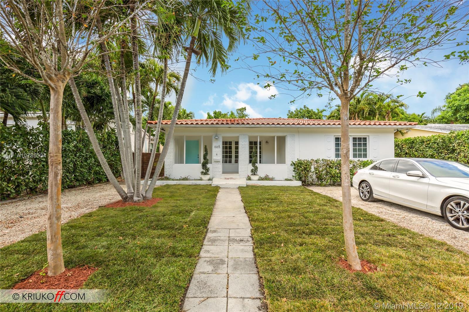 665 NE 70th St  For Sale A10786334, FL