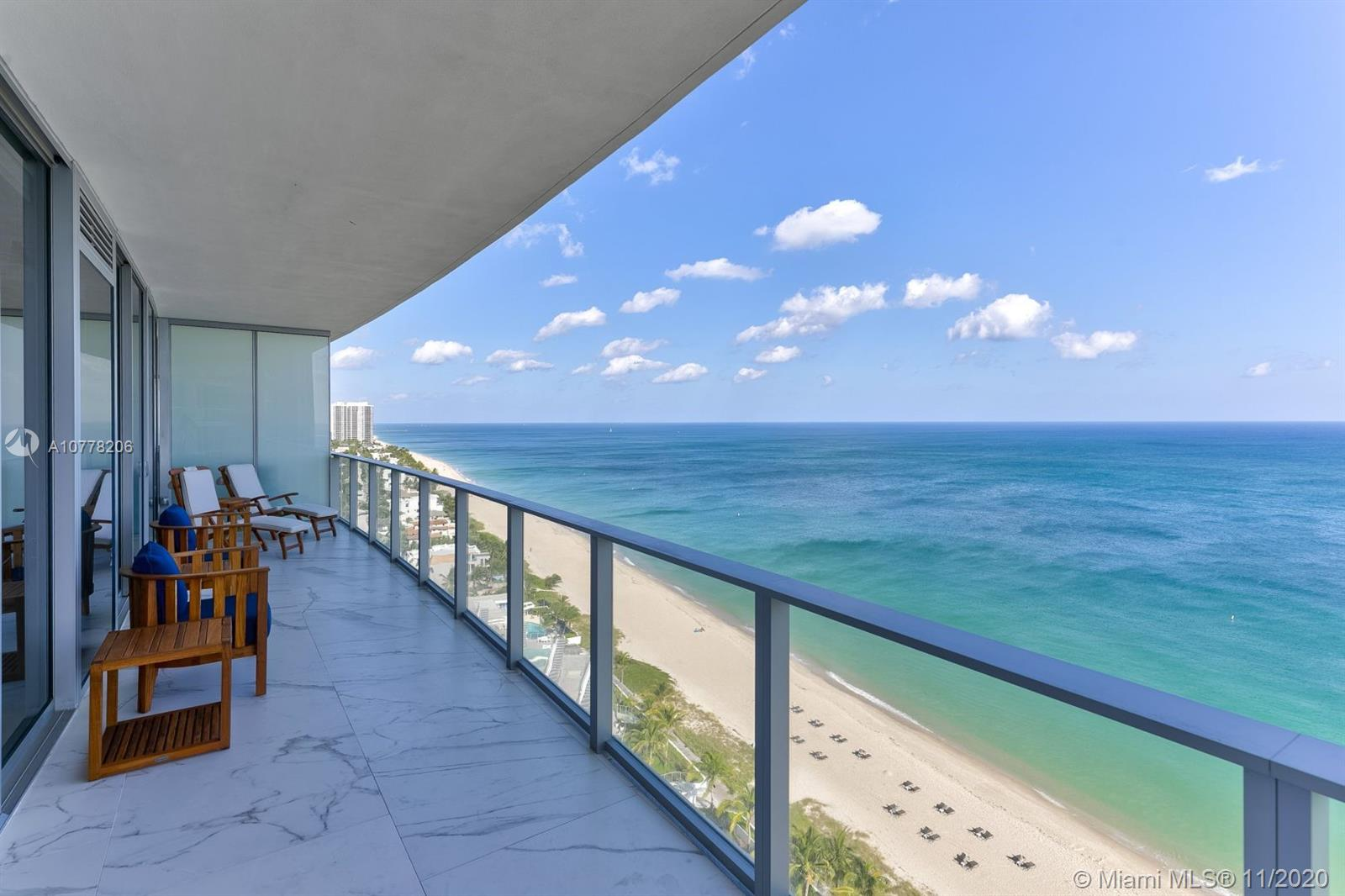 Located at the acclaimed Auberge Beach Residences & Spa on the beachfront in Fort Lauderdale, this 5 bedroom (including service quarters) condominium home is the essence of true luxury and sophistication. The community boasts 450 linear feet of beachfront and offers residents an exclusive array of cultural and culinary experiences. Auberge S1801 is a southeast corner thru unit with both beachfront and Intracoastal views. Outfitted with Italian Carrera marble, with Wolf and Subzero appliances, this residence is ideal for the discerning buyer looking for an unparalleled level of service and a most memorable experience.