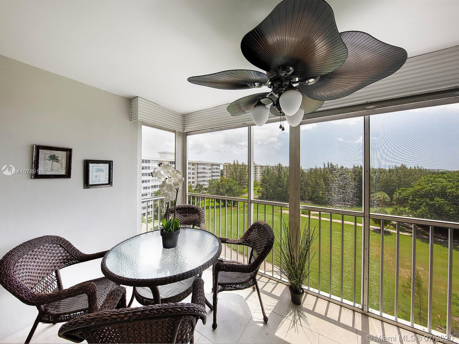 BEST VIEW with screen in balcony over looking PALM AIRE golf green #4. IMMACULATE condo features 2 Bedrooms/2 Baths fully renovated, marble like ceramic floors, granite counter top, newer stainless steel appliance with great breakfast area. Comes fully furnished. 40 year assesment has been done. Well maintained building next to pool. Pool and Clubhouse areas have been fully renovated. Walk to the park, tennis court and Publix is located inside the Palm Aire community.  HOA requires 20% down payment. Minutes to the beach and restaurants. PRICE to SELL. Easy to show.