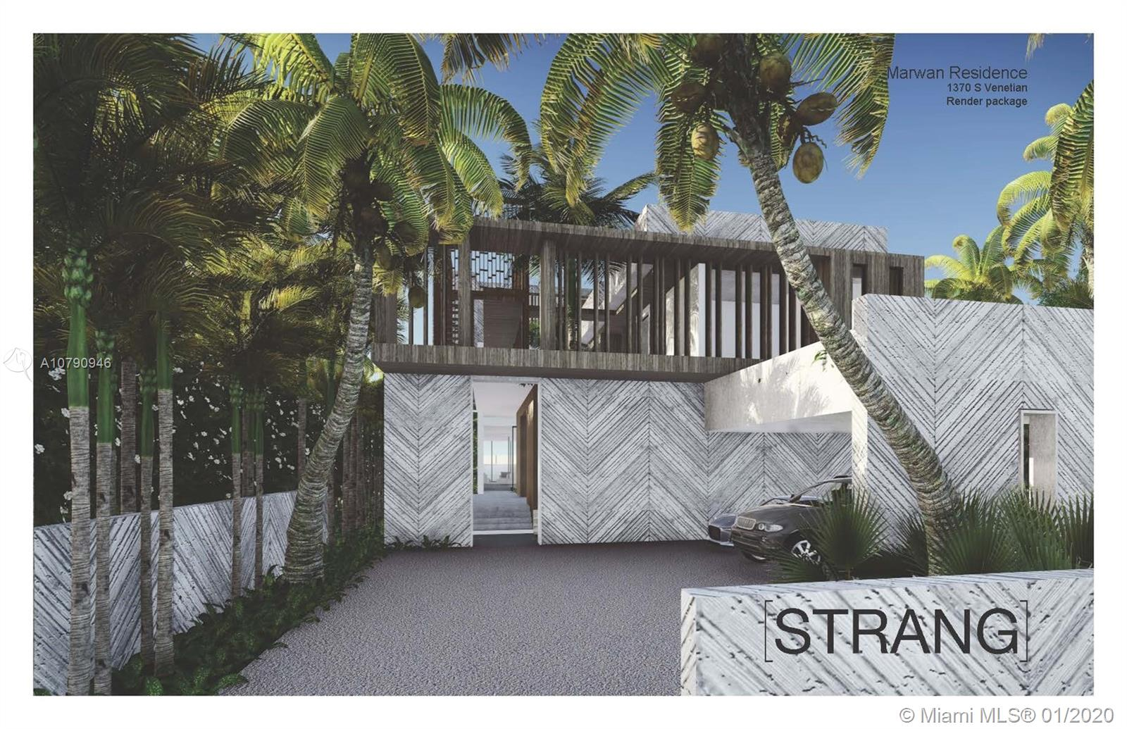 Amazing opportunity to buy one of the best South facing lots on the Venetian Islands complete with approved plans by leading Miami architect Max Strang. Enjoy postcard perfect open bay views of downtown Miami. Lot has been cleared. Save a year's worth of planning and get started with this unique 7 bedroom / 7.5 bathroom modern masterpiece. State of the art design includes two infinity pools, one of which cantilevers from the elevatored roof terrace over the backyard area, spa and firepit. Great layout with 2 guest suites downstairs, 5 bedrooms upstairs, and multiple outdoor spaces. Smart home with the finest finishes.