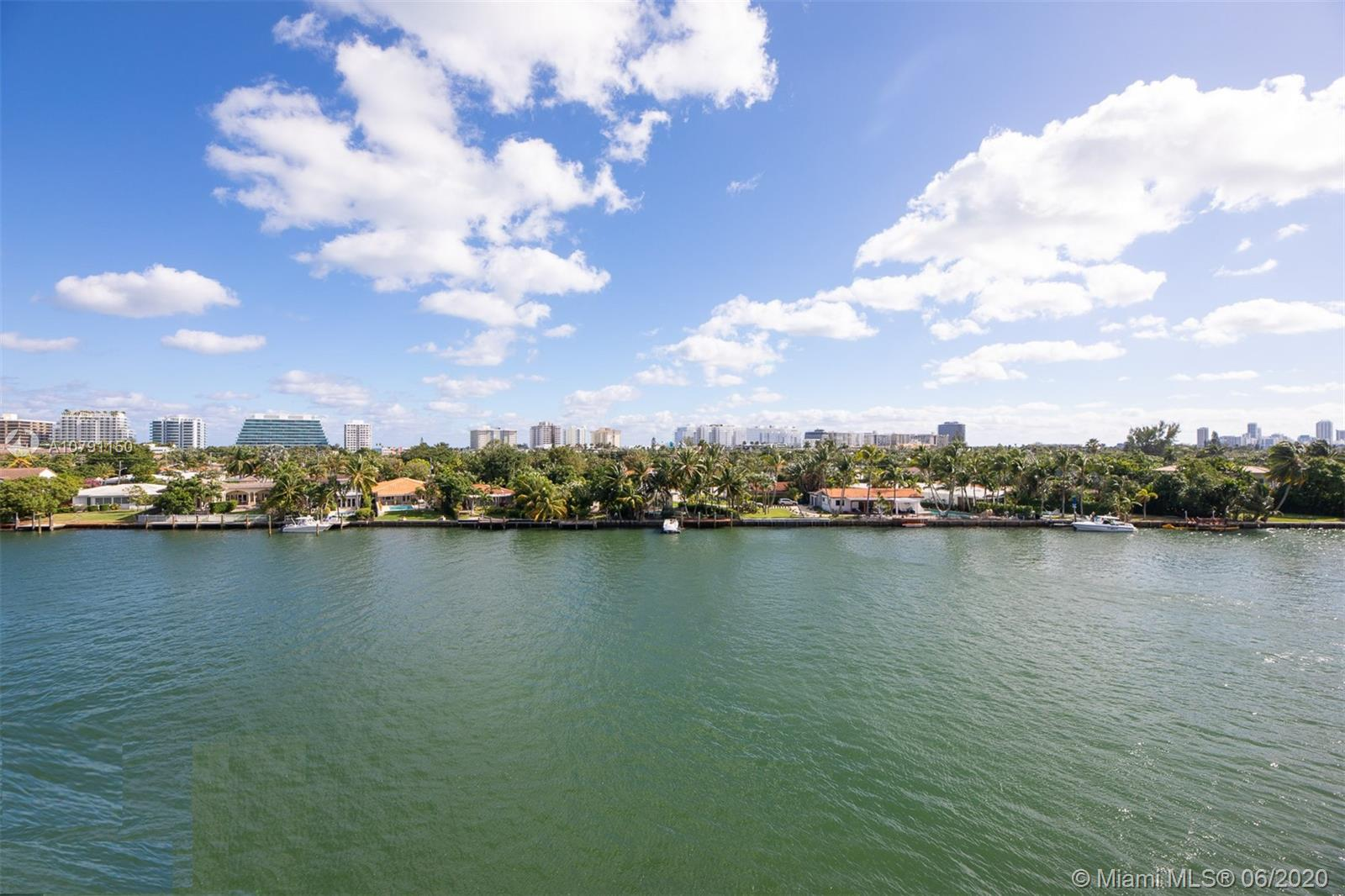 Estate sale ! Great opportunity to own a beautiful and spacious 2bed 2 bath overlooking the waterway in Bay Harbor Islands.  With 1,490/sf, this unit features a split floor plan with ample closets throughout, renovated kitchen and bathrooms, new AC unit, hurricane shutters and comes with one assigned parking space. Excellent location within walking distance to shops, restaurants, Bal Harbour Shops, parks.  This a no longer a 55 and older building so children are welcome.