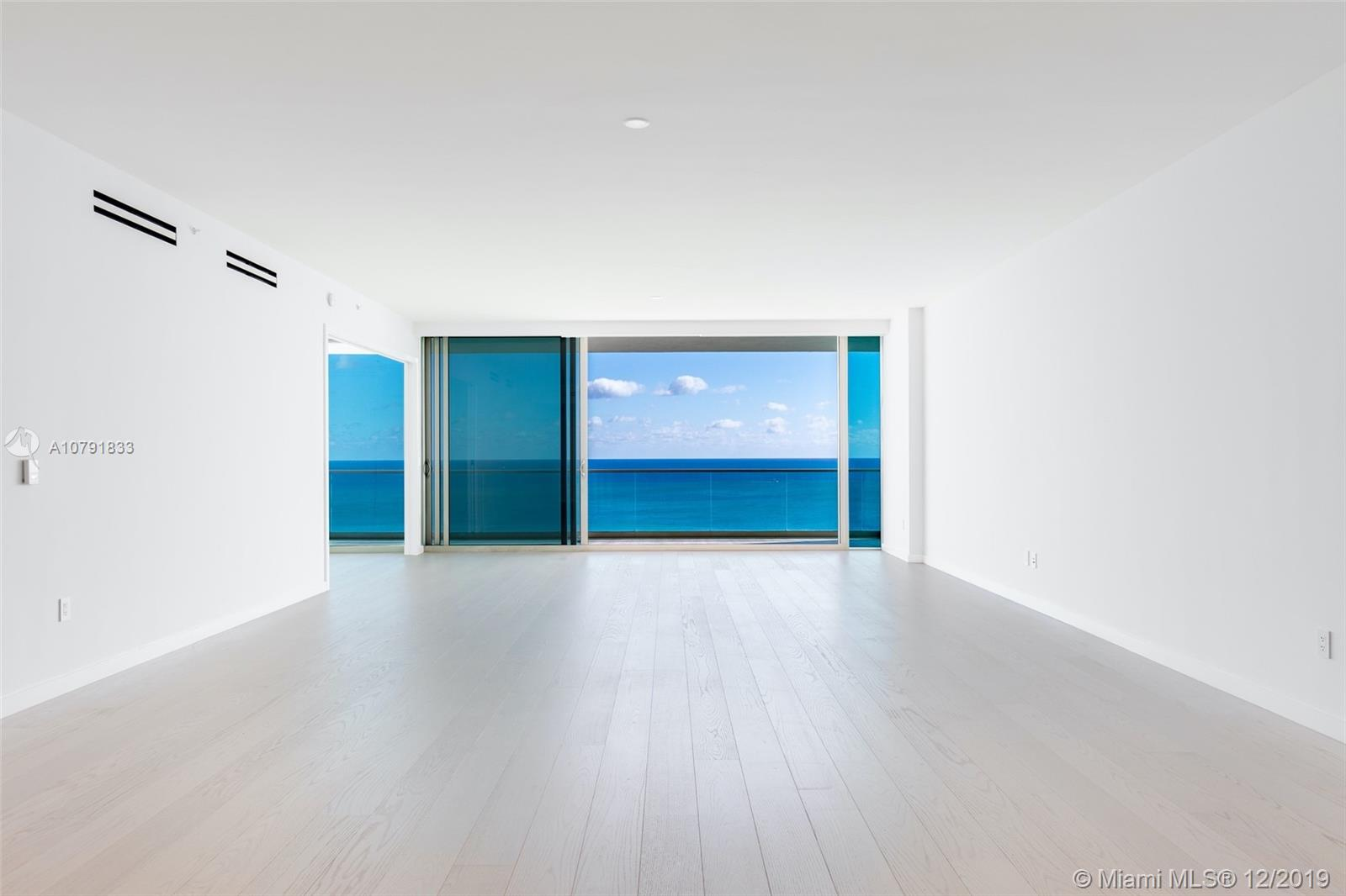 Located in prestigious Oceana Bal Harbour, this brand new just finished, high floor flow-thru residence boasts unobstructed breathtaking east views to the Atlantic Ocean & Biscayne Bay, & beautiful open intracoastal & Downtown Miami skyline views to the west. At 3,450 SF, with 3bed/4.5 Bath + Service Quarters, this residence lives like a home. Private Foyer Entry. Gourmet Kitchen with Dada Cabinetry & Gaggenau appliances. Master Bedroom entry repositioned to maximize ocean views. Fully built out closets & window treatments. Oceana redefines luxury in Bal Harbour with 5-star amenities that cater to a select few: beautifully manicured grounds, pool side private restaurant under Stephen Starr catering, beach service, tennis courts, spa,& museum quality art with sculptures by Jeff Koons.