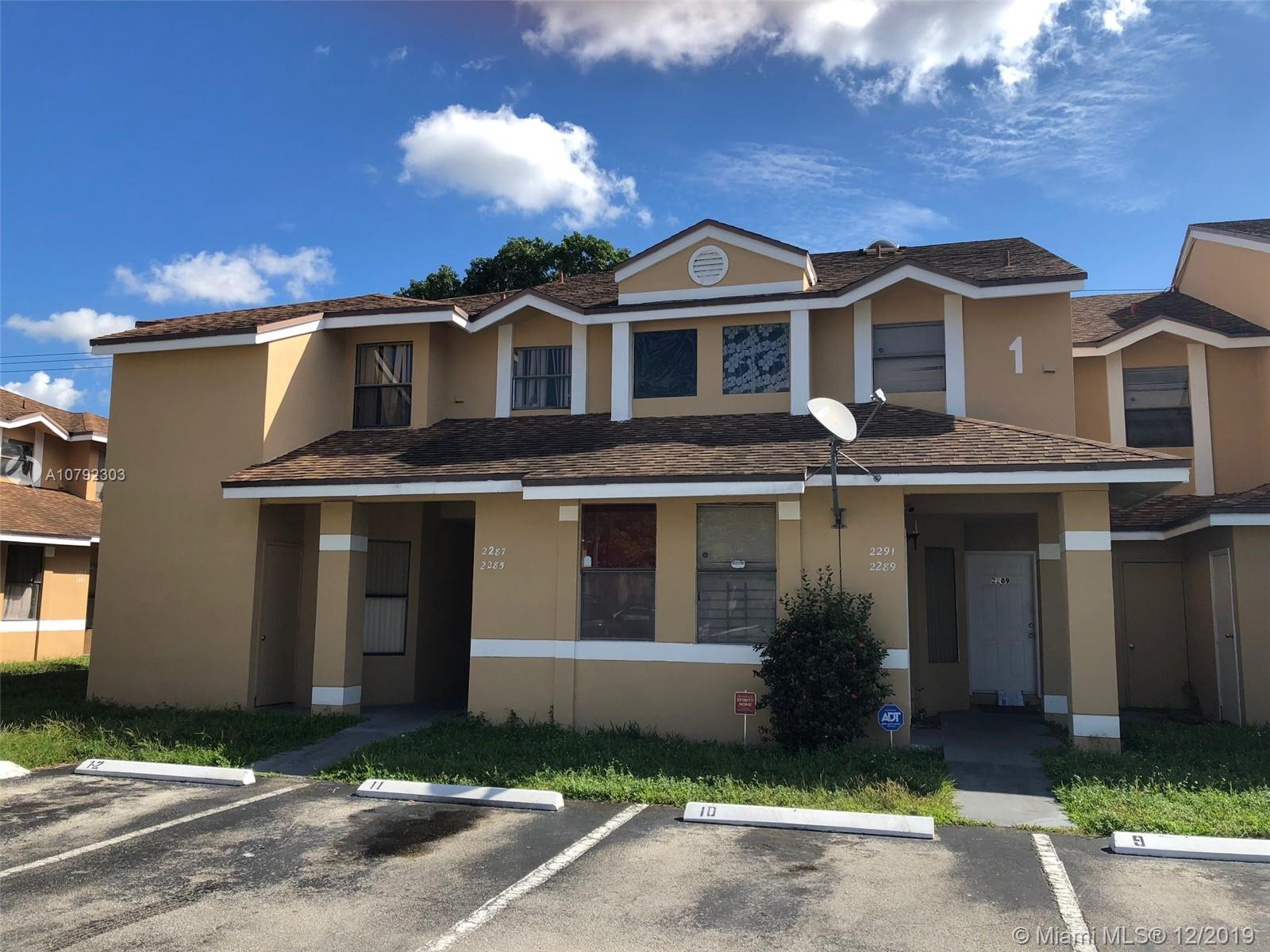 2291 SW 80th Terrace ##2291 For Sale A10792303, FL