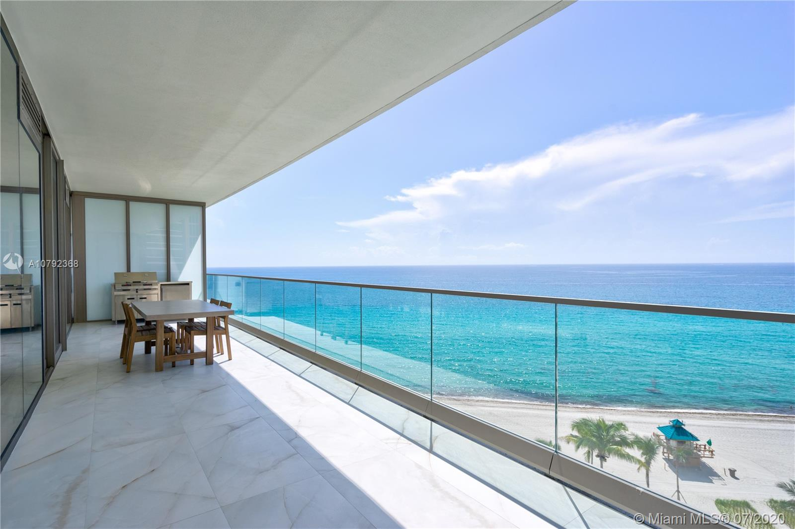 Newly completed exclusive & luxurious oceanfront residences by Armani Casa. Unit will be delivered with unique Onyx porcelain flooring throughout. Enjoy the stunning ocean and intracoastal views from this flow-thru residence. 4 bedrooms plus Den and 5 1/2 bathrooms, private high-speed elevator access to foyer, 10 ft ceilings, floor to ceiling windows, 2 expansive balconies overlooking the intracoastal and ocean views. It features Subzero fridge & Wolf appliances and stone counter-tops. Amenities include a private oceanfront restaurant & bar, Spa, private Movie Theater, heated pool, cigar room, children playground, fitness center, distinctive two-story revitalization spa with indoor & outdoor treatment rooms, direct beach access.