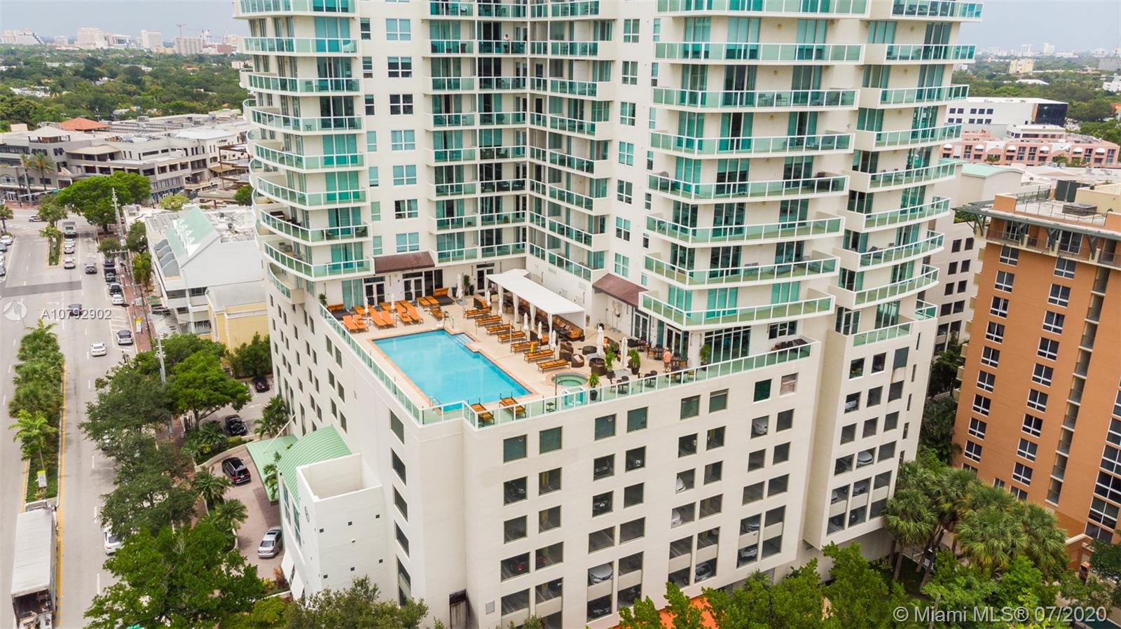 Unique opportunity to own a unit in Hotel Arya at the heart of Coconut Grove! View of the famous Cocowalk from your own balcony. If you are looking for a to own vacation rental for investment, Airbnb or pleasure, look no further than this 1 bedroom and 1.5 bathroom unit at a highly desirable location. The furnished unit features a kitchen with granite countertops and pantry, balcony, modern finishes in bathrooms. The hotel features a gym, valet parking, pool, restaurants, bar, cleaning service and more. Enjoy the views of the beach from the gorgeous rooftop pool. Walking distance to world-class entertainment, shopping, dining art and more. 20 minutes from the Miami Airport and easy access to Dixie Highway. This building was created with contemporary decorations and luxurious living in mind