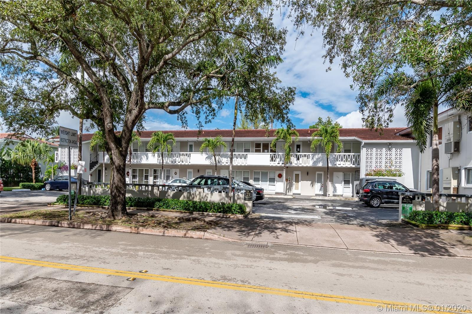** HUGE CORNER UNIT 2 BEDS /1 BATH  IN DESIRABLE EDGE WATER DRIVE.** One of the most tranquil places in the heart of Coral Gables on a tree shaded street. New stainless steel appliances, new title floors, granite countertop on the kitchen, an overlooking pool recently renovated. Enjoy a great location closed to great schools and University of Miami. New water heater, new stove and brand new electric panel. Community laundry upgraded. Extremely low monthly maintenance fee.