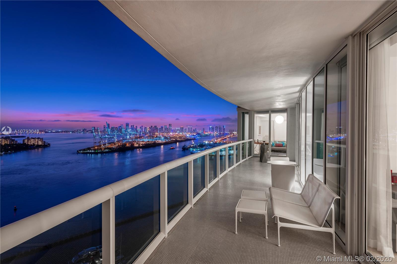 Renovated to perfection with unmatched views, this stunning home is the definition of pure luxury. Interior designer Guimar Urbina draws inspiration from the lively Miami Beach city blending it with striking embellishments to execute flawless design. Boasting floor to ceiling glass windows, Lutron shades, a Crestron smart home system, Arclinea kitchen cabinets & Miele appliances, custom Ornare master bedroom & closet and most interior furniture custom made by Guimar Urbina herself. Located in the sought after South of Fifth neighborhood, enjoy all the Murano at Portofino has to offer including two tennis courts, private beach club, complimentary valet, concierge and more.