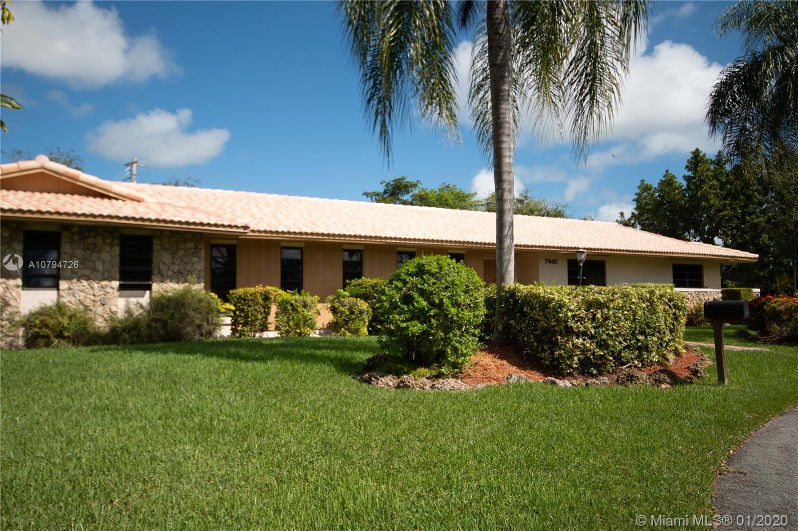 7445 SW 144th Ter  For Sale A10794726, FL
