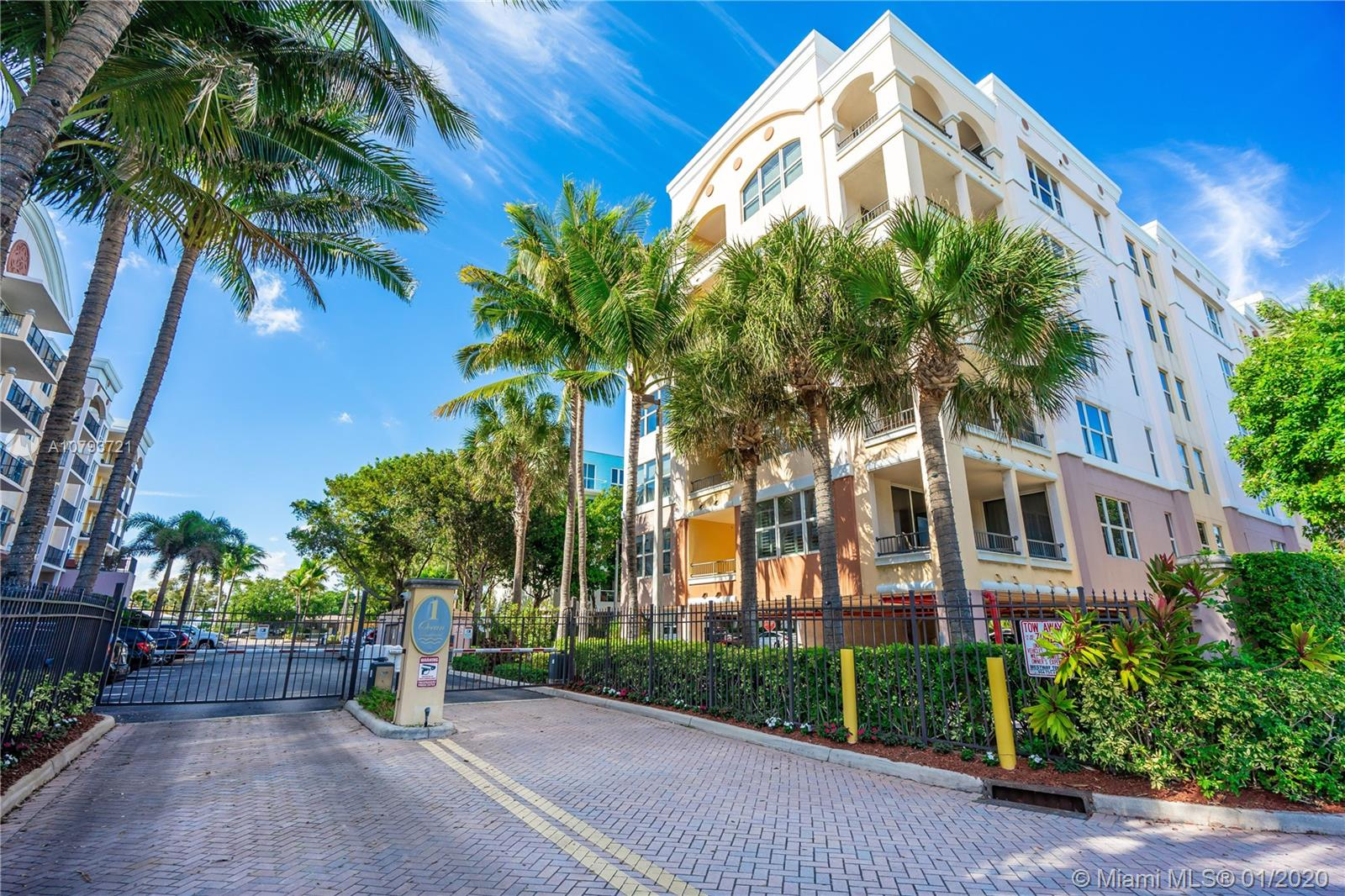 """Elegantly updated 2/2 with a possible den just steps to the ocean located in one of the most sought after buildings in Deerfield Beach. Open concept living with ocean views, 24"""" marble floors, upgraded kitchen with high end appliances and subway tile backsplash.  Spacious master suite with oversize bath, 2 sinks, vanity table large stand-up shower, whirlpool tub and private toilet room. This gated community offers an exercise room, pool, spa. BBQ area, car wash area, and on site management."""