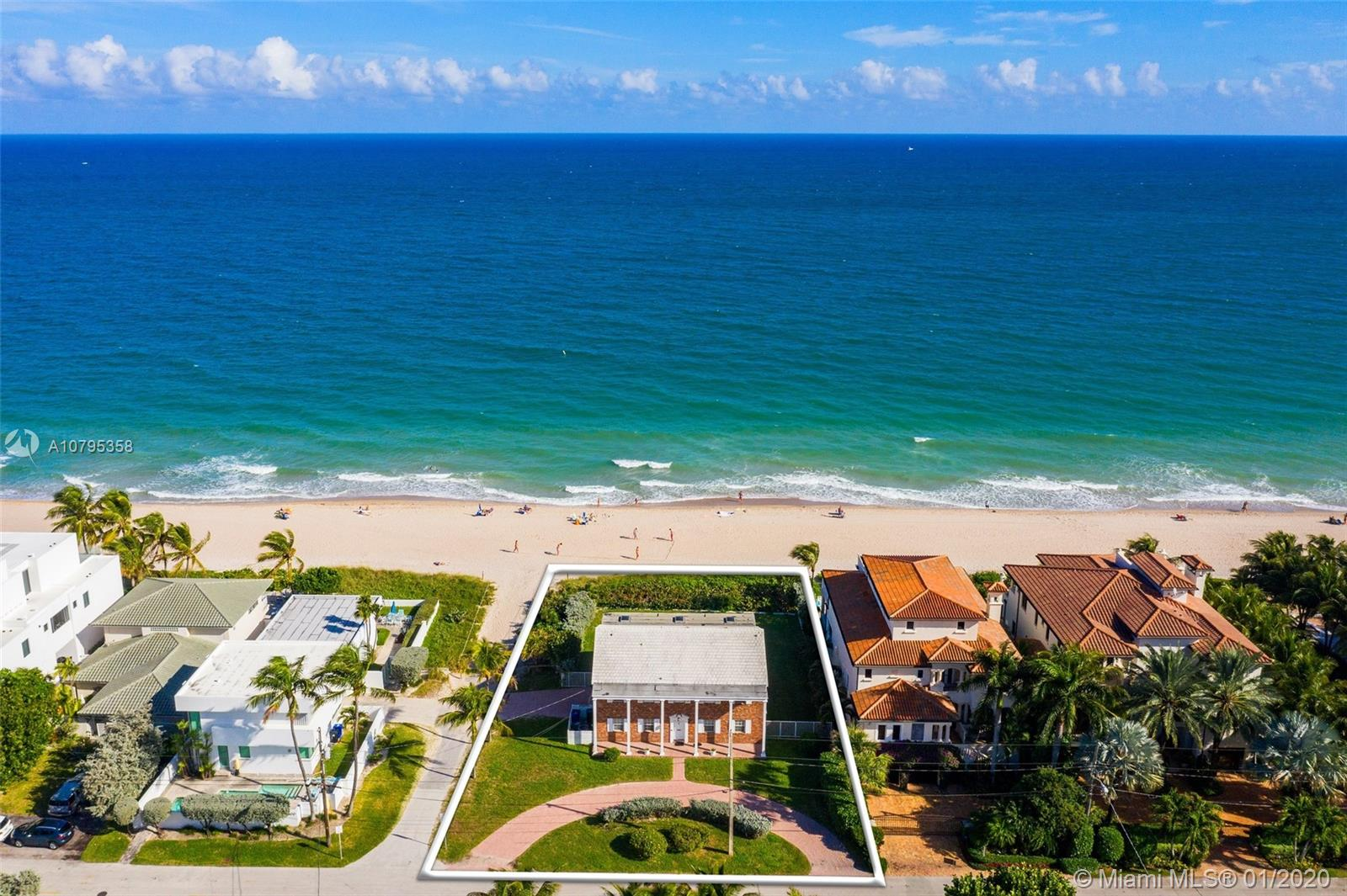 Direct Oceanfront oversized lot with 80 feet of prime water frontage! The Atlantic Ocean at your doorstep. 11,089 square feet of land. Rarely available 1 of 52 oceanfront homes on North Atlantic Blvd. Excellent location in a private neighborhood, build your dream home!
