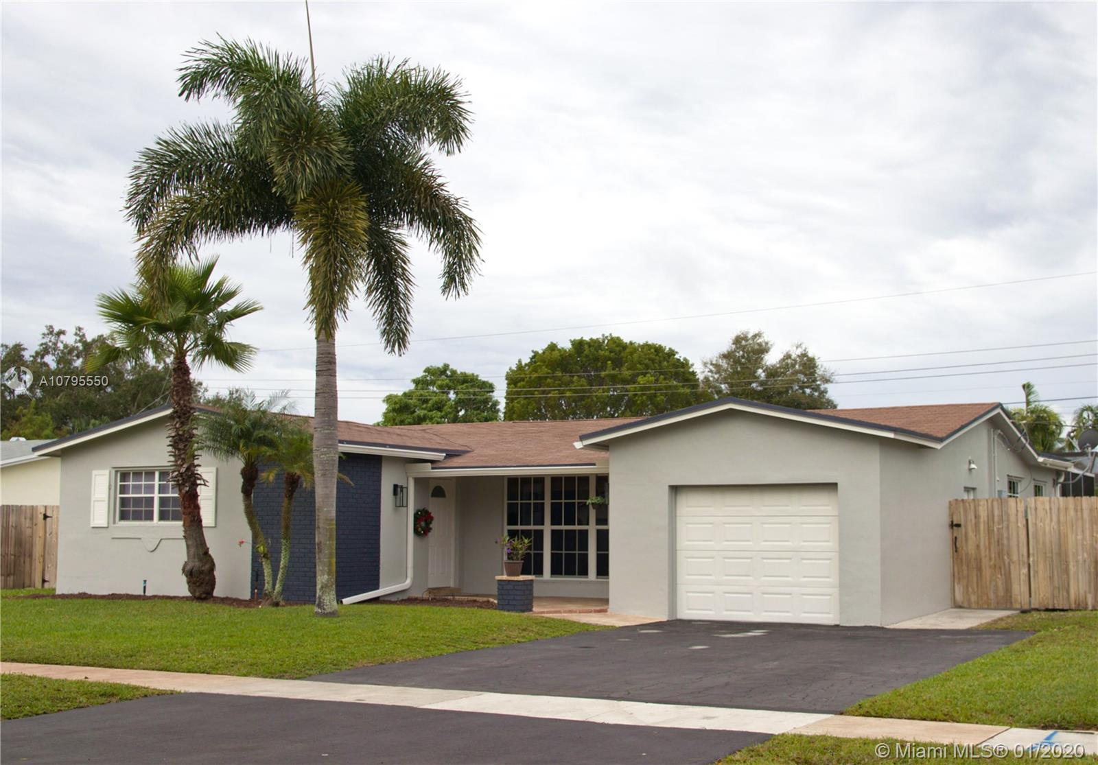 Gorgeous 3/2 Recently updated located in the heart of a well desired neighborhood in Cooper City. Fully fenced in back yard with plenty of room for a Boat/RV and NO HOA.  Unit Shows like a Model Bring your Pickiest client! Easy to Show Call LA