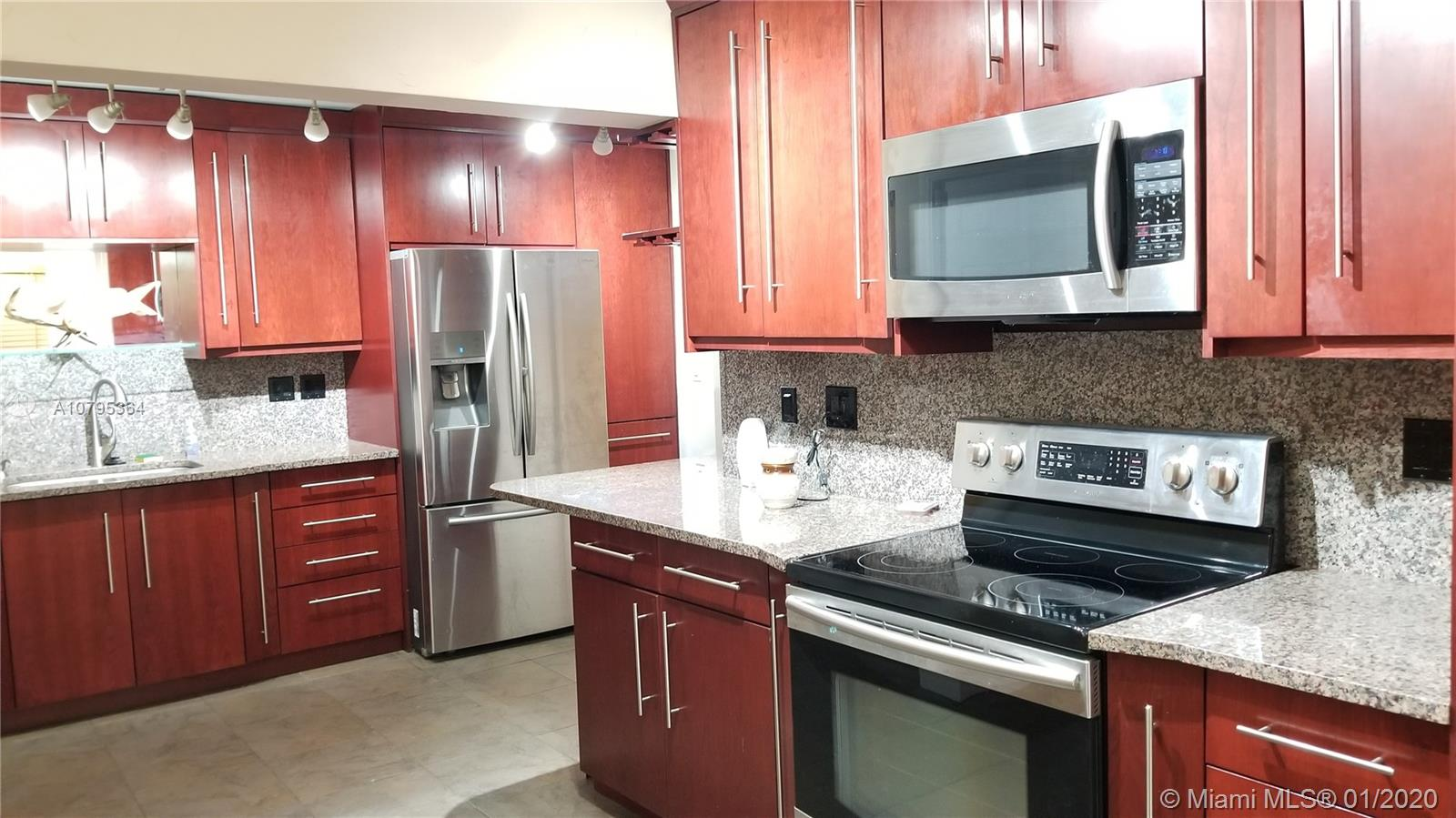 PRICE REDUCED!!! Beautifully remodeled 2 bed 1 bath with 1 car garage. Impact Windows and Doors. Tile throughout. Kitchen boasts real wood cabinets with TONS of storage space and under cabinet lighting. Granite counter tops. Matching granite back splash and windowsills. Stainless steel appliances. Refrigerator has two ice makers. Floor to ceiling tile in bathroom. Jacuzzi tub. All lighting in the house is LED. Brand new A/C unit. Upgraded electrical. The backyard is huge with plenty of room for a pool or a master suite. No HOA. No Restrictions. Bring your furniture! Bring your boat! Bring your pets! Owner Agent.