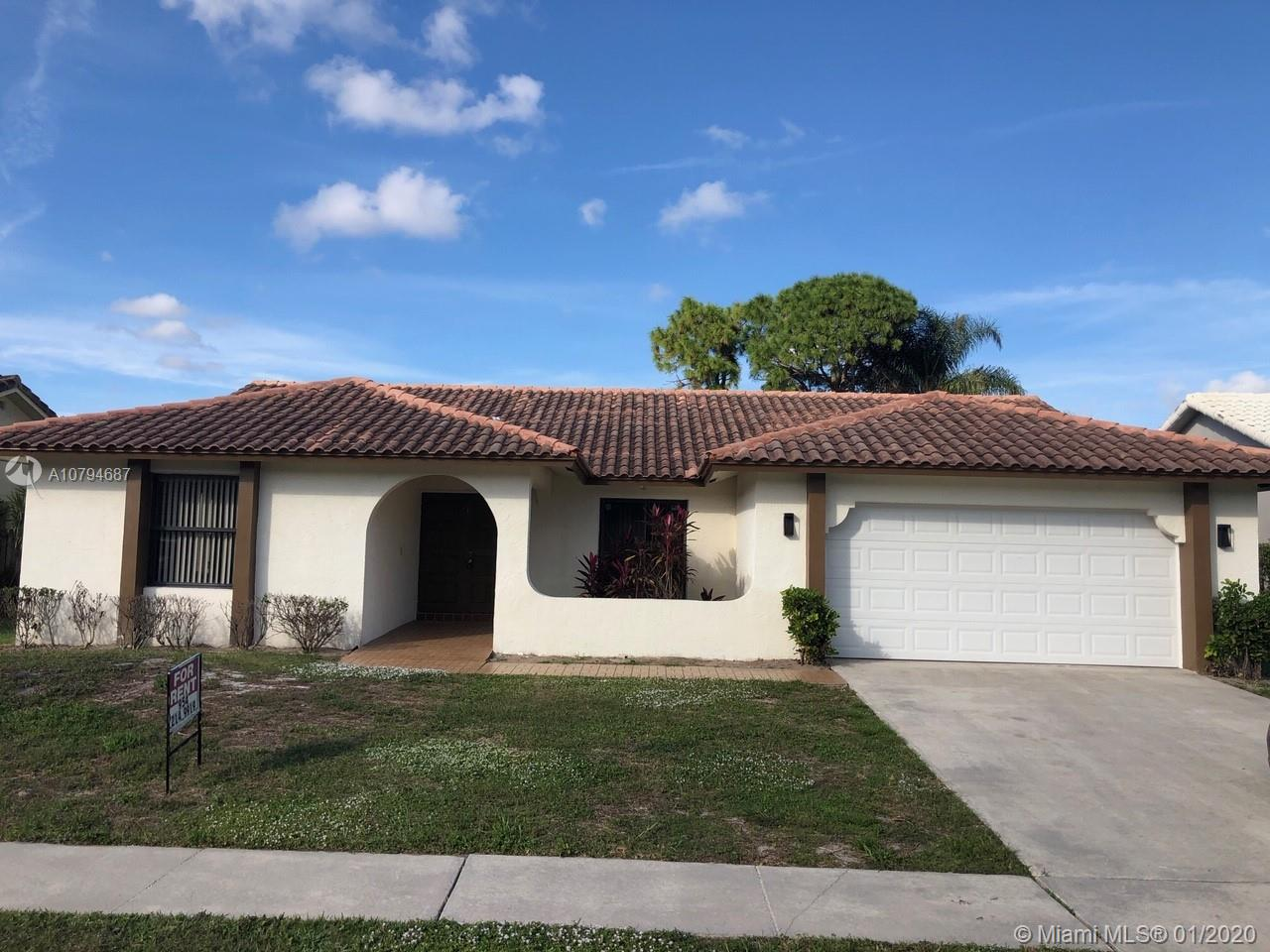 Great 4 bedroom, 2 bath, 2 car garage, pool home in Central Boca! Large covered, screened patio and pool! Spacious private back yard! Close to excellent schools, restaurants, shopping, houses of worship, I-95 and Turnpike! POOL AND LAWN MAINTENANCE INCLUDED! Owner may consider 1st month and security if tenants have great credit.