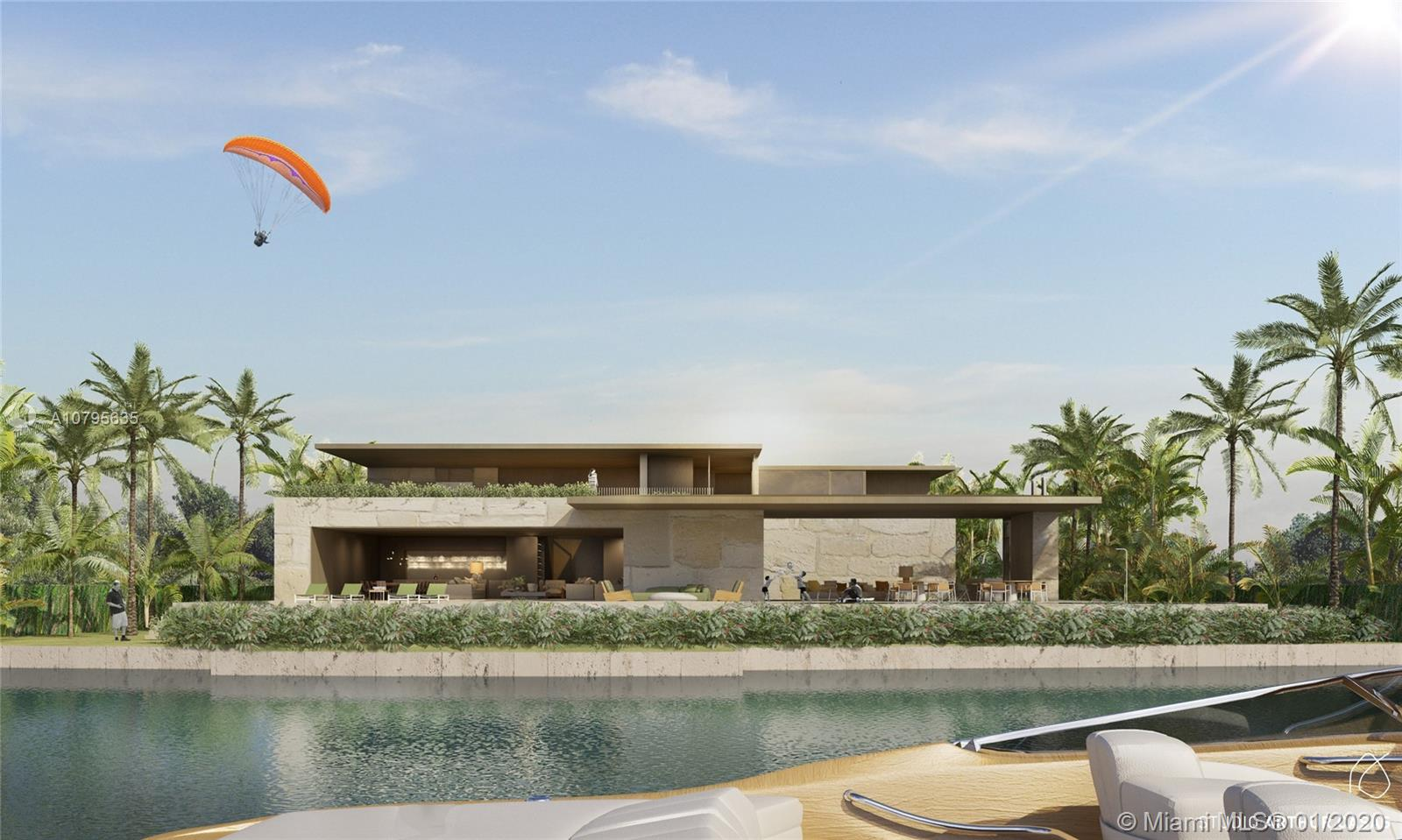 Once in a lifetime opportunity in the Venetian Islands! Two lots combined on the south east tip of East San Marino Island to form a total of 22,682 sq. ft. of land and 160 ft of water frontage. Brand new construction plans approved by the City of Miami Beach. Plans include a 10,684 sq. ft home with 5 bedrooms, 5 baths, and 1 half baths, staff quarters, and gym. Unique opportunity to build your own custom interiors and make this gem your own. Listing includes land, foundation, and exterior shell.