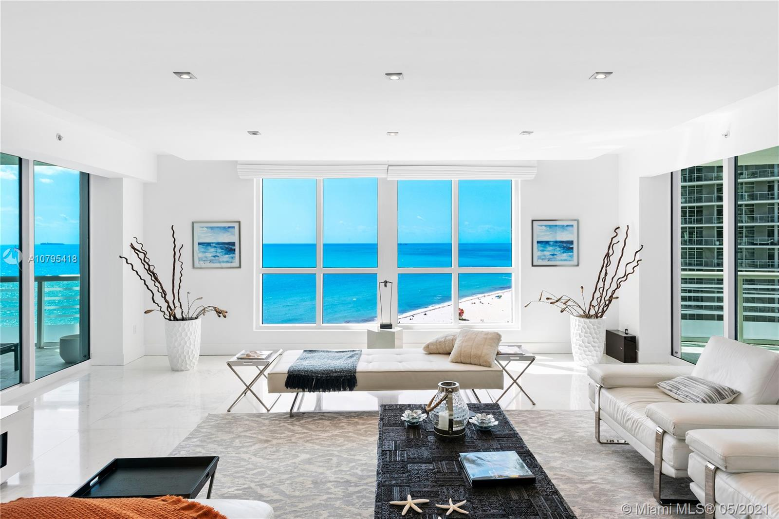 Stunning Oceanfront 3 bedroom condo. Recently renovated, updated and tastefully decorated with beautiful sunset and sunrise views. This is a must-see for anyone looking for an oceanfront residence in the Faena District of Miami Beach