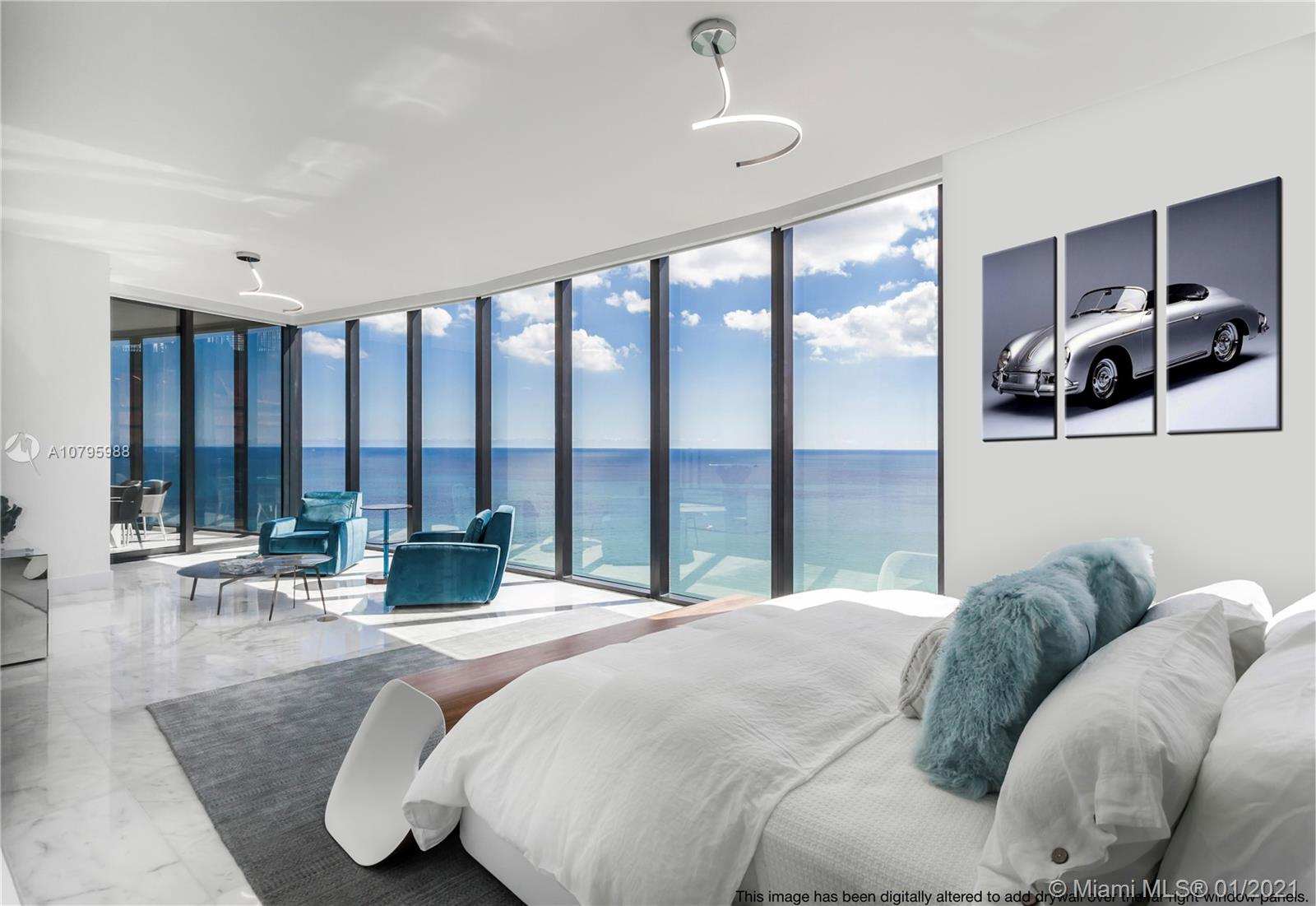 A Luxury Turnkey unit; all Italian furnitures are included ready to move in!! This beautiful Apt has direct Ocean & intracoastal Views. 2 car Parking space at the unit, High Tech Dezervator (car elevator) for your 100% privacy. If your customer like Privacy, then this is the perfect Unit!! Private pool at your own balcony, Spa, Gym, Restaurant, Bar, Yoga, Game Room, walk to the Beach in a 5 stars VIP Service.