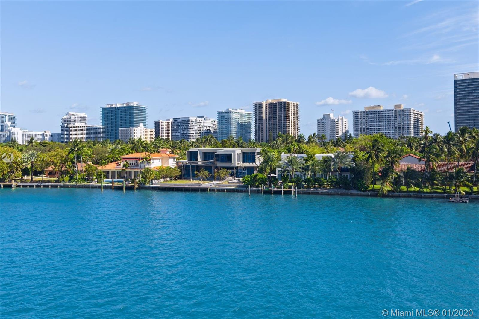 Endless water views!! Amazing 2 bed - 2.5 bath apartment with un-obstructed water views  Huge covered terrace ideal for entertainment or relaxing. Apartment comes furnished w/some exclusions. Open & spacious w/tons of natural light. Marble floors though-out. Kitchen is open to living/dining & amazing water views. Exclusive private full-service boutique Mediterranean bldg w/only 39 units. Amenities include: concierge, valet, pool, gym, East & West facing sundecks & potential to rent a boat slip. 2 side-by side car parking spaces + separate storage.  Walt to the beach, Bal Harbour Shops, restaurants.  Amazing school district too.