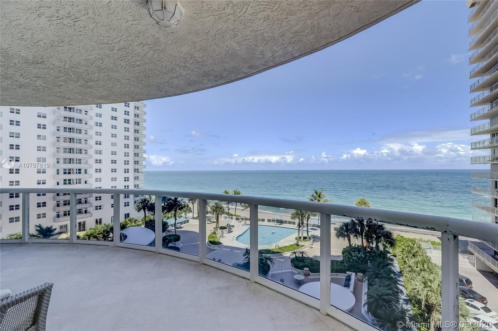 Amazing ocean front unit with direct ocean view in a luxury building. Unit has been completely remolded.  Brand new state of the art kitchen. New floors, New custom closets. New bathroom finishes. New Ac and water heater. Large balcony with direct ocean view. This unit needs nothing but a new owner. Move right in. Owner will consider OWNER FINANCING. Property cleaned and Vacant.
