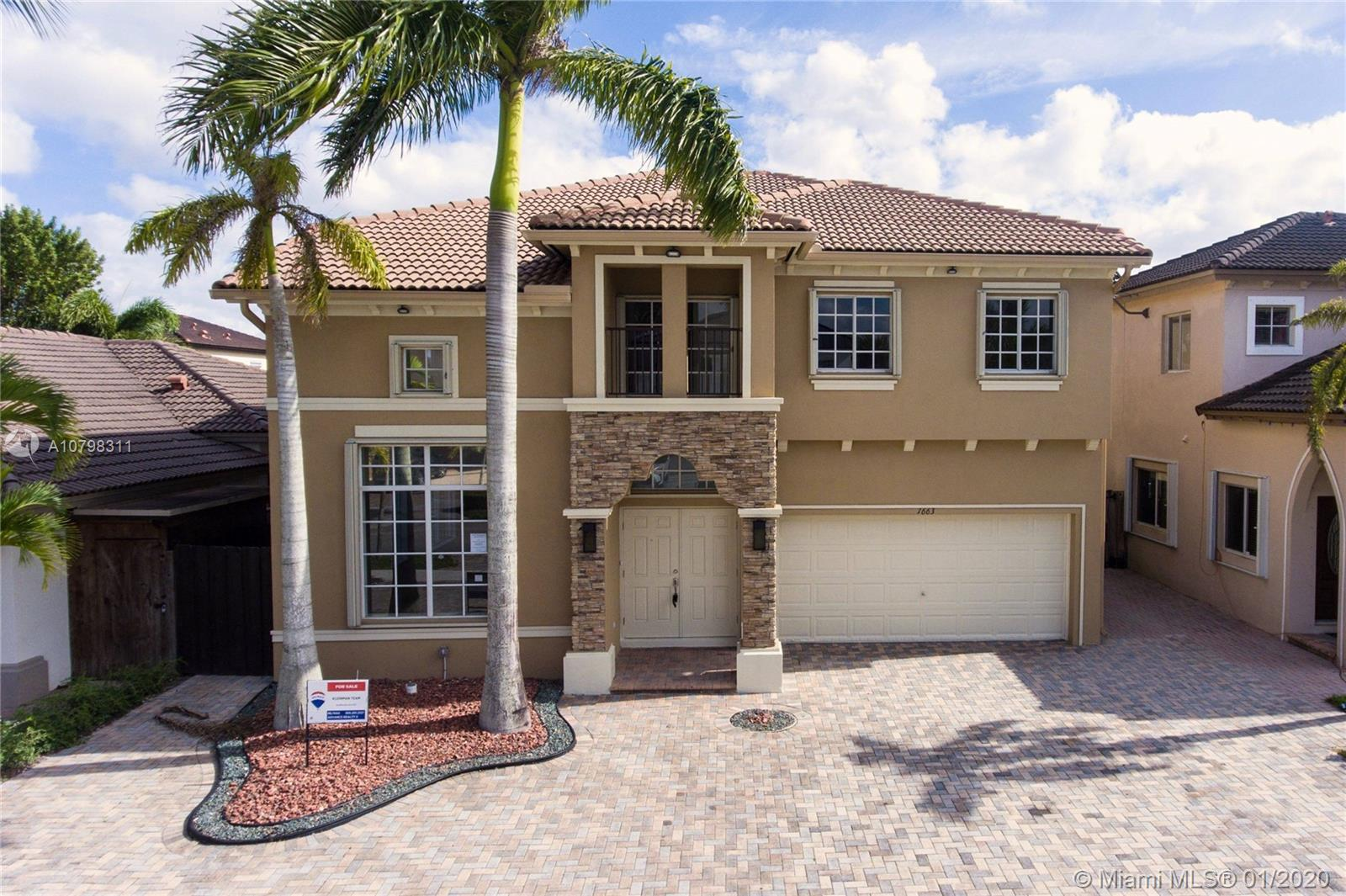 1663 SW 154th Ct  For Sale A10798311, FL