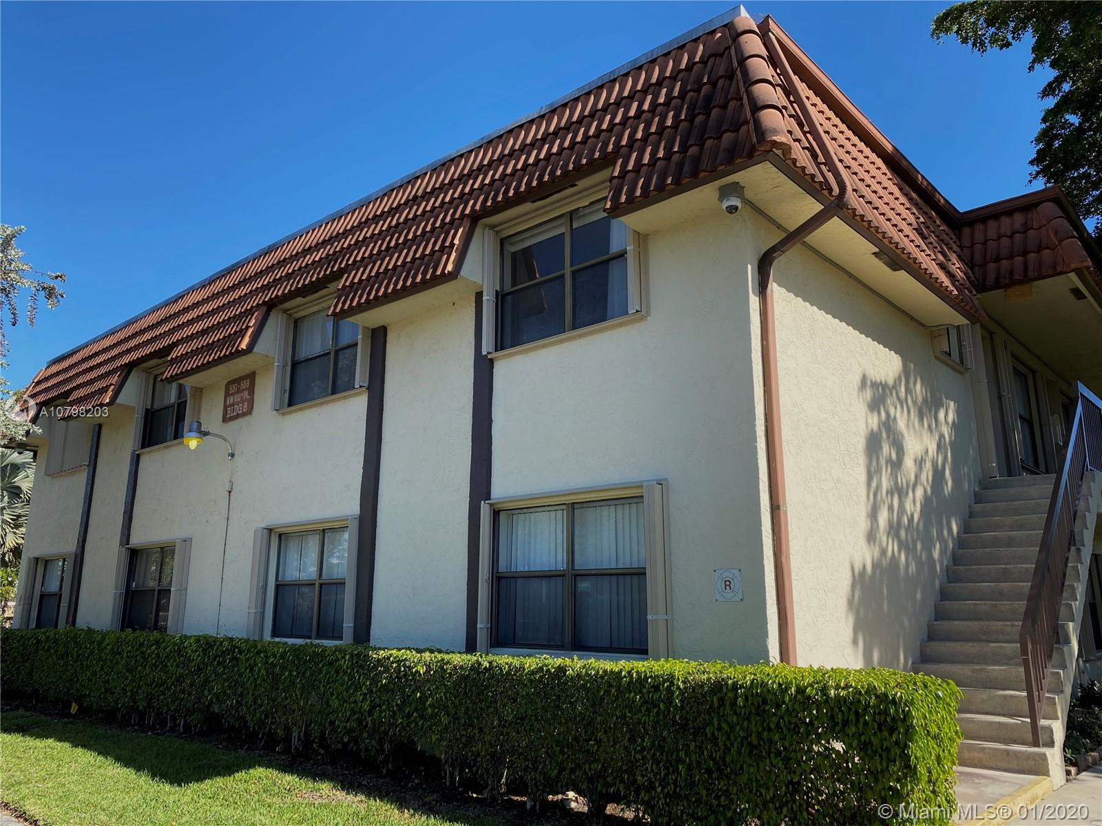 551 NW 100th Pl #101 For Sale A10798203, FL