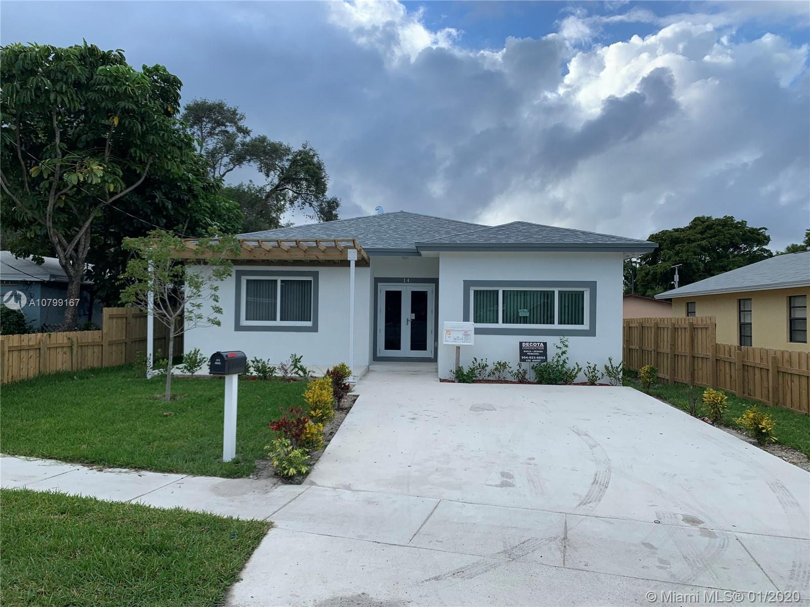 Beautiful new construction, three bed and two bath new construction home in one of the finest upcoming areas. Minutes to Beach, Hollywood Airport, Historical Dania shops and Dania point shopping and entertainment center.