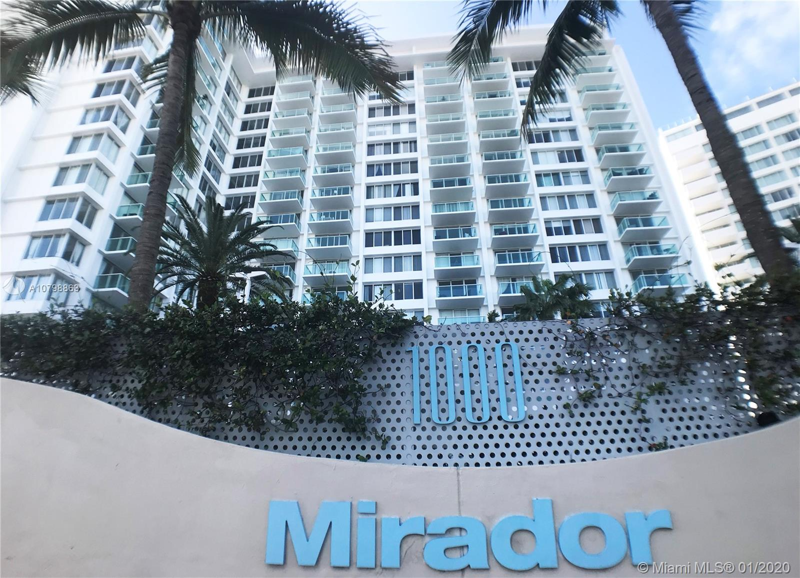 1000  West Ave #606 For Sale A10798863, FL